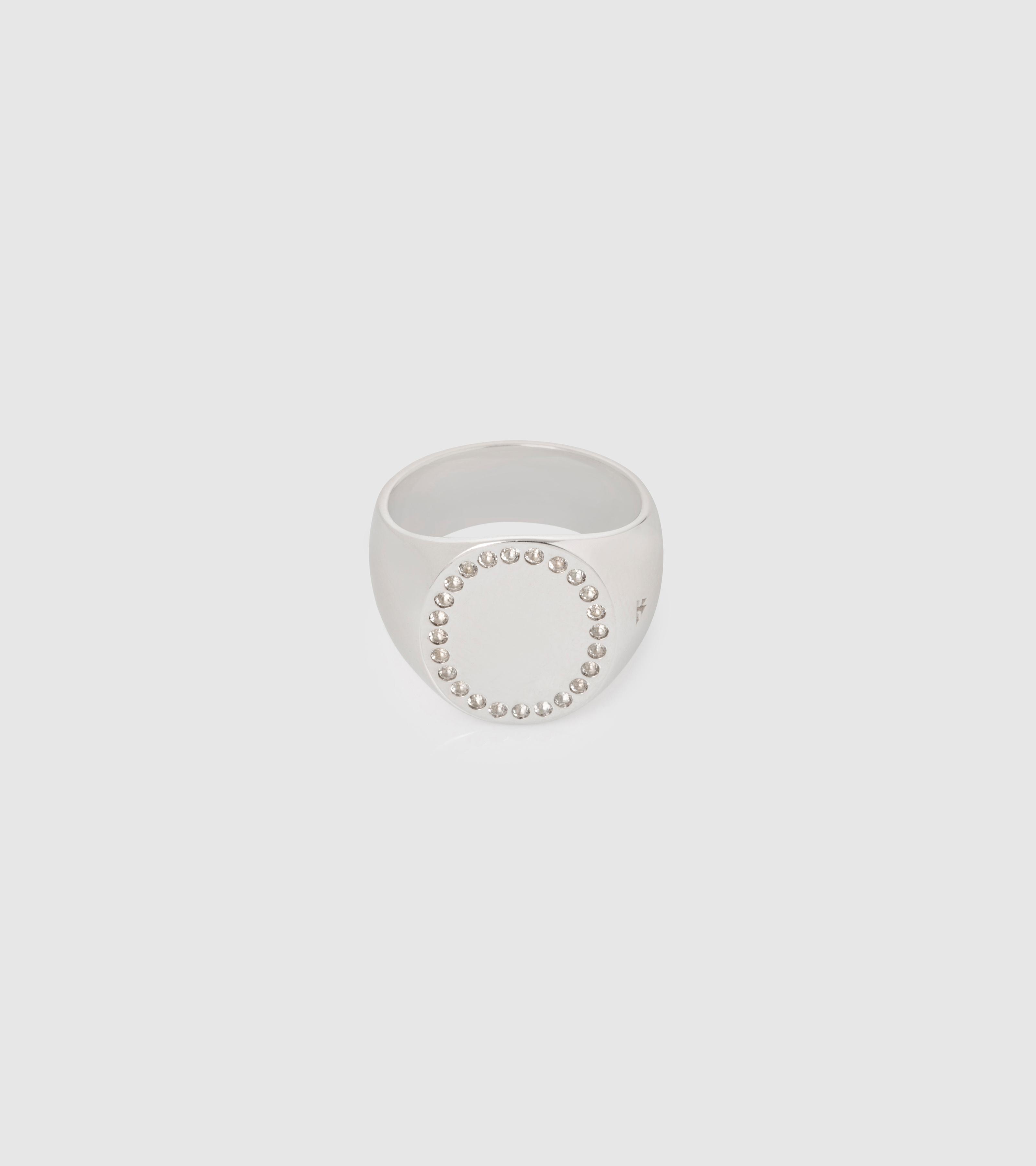 Circle Ring White Topaz