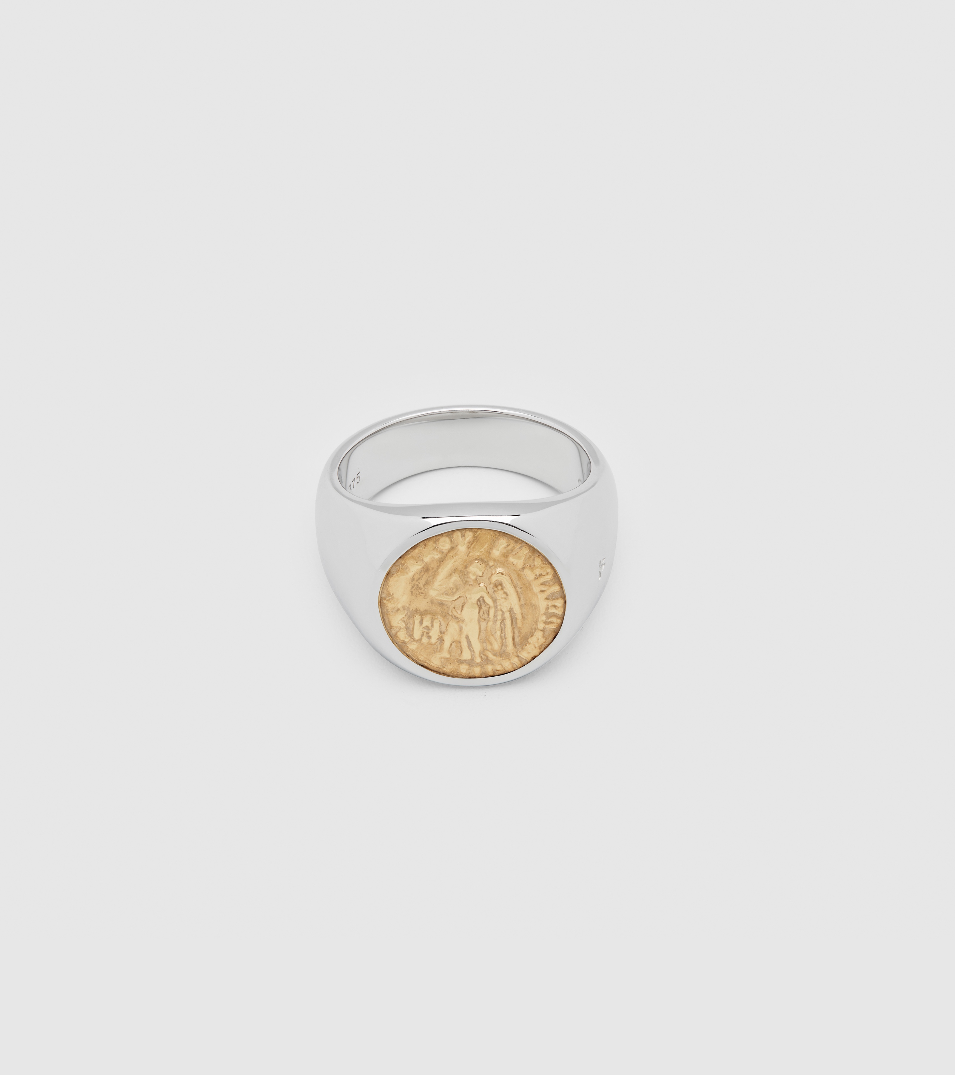 Coin Ring Angel Gold