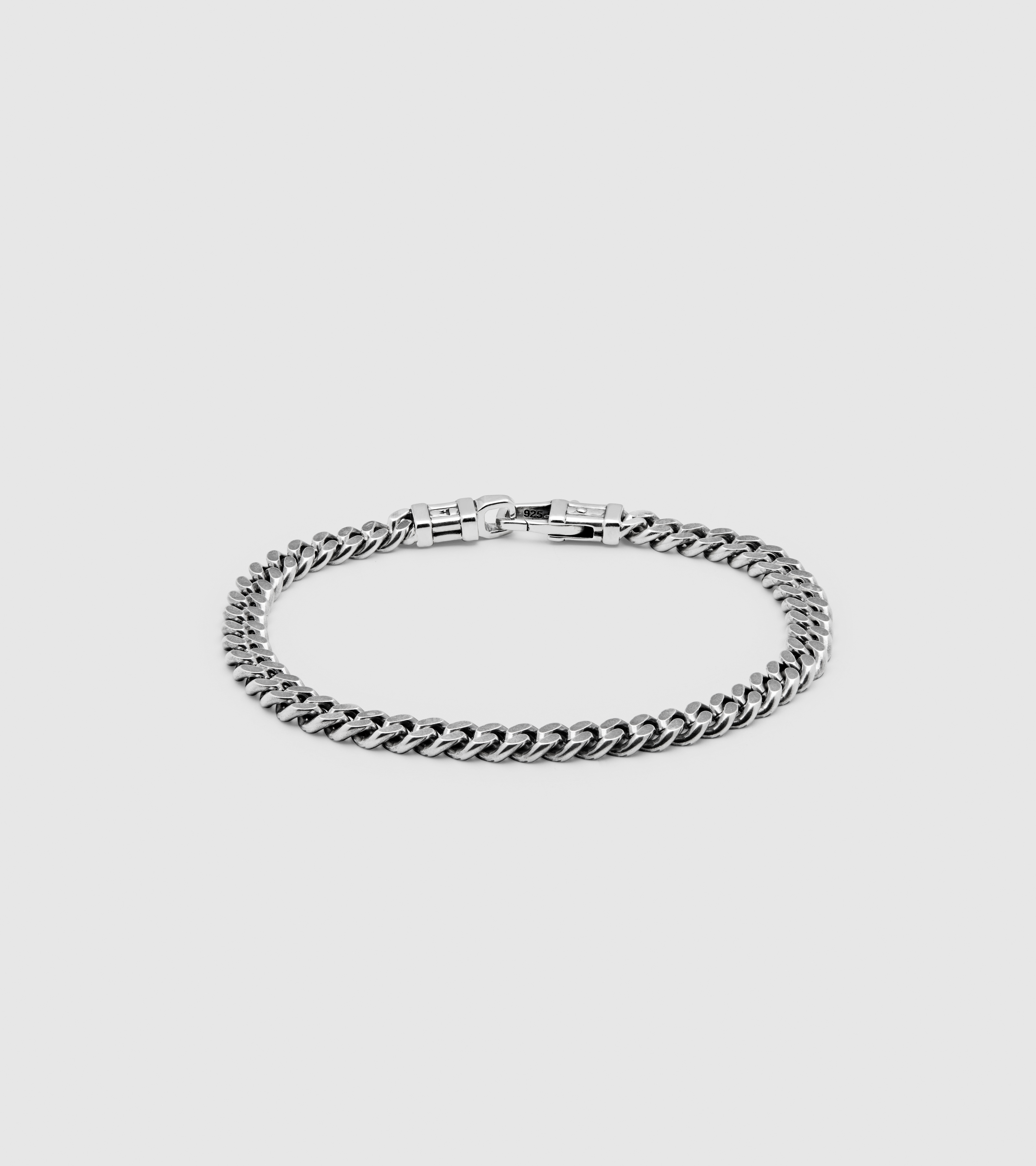 Curb Bracelet L Black
