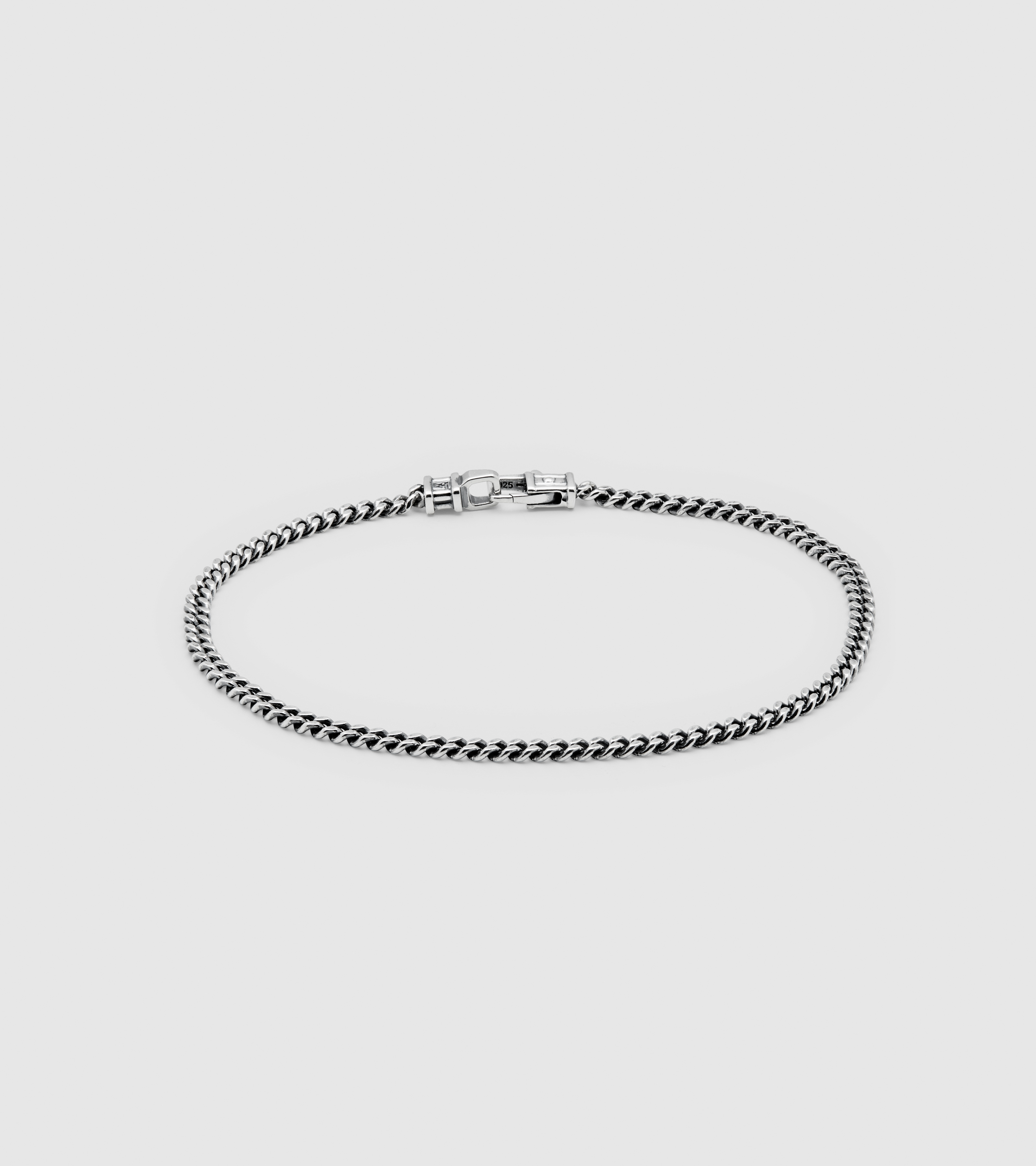 Curb Bracelet M Black