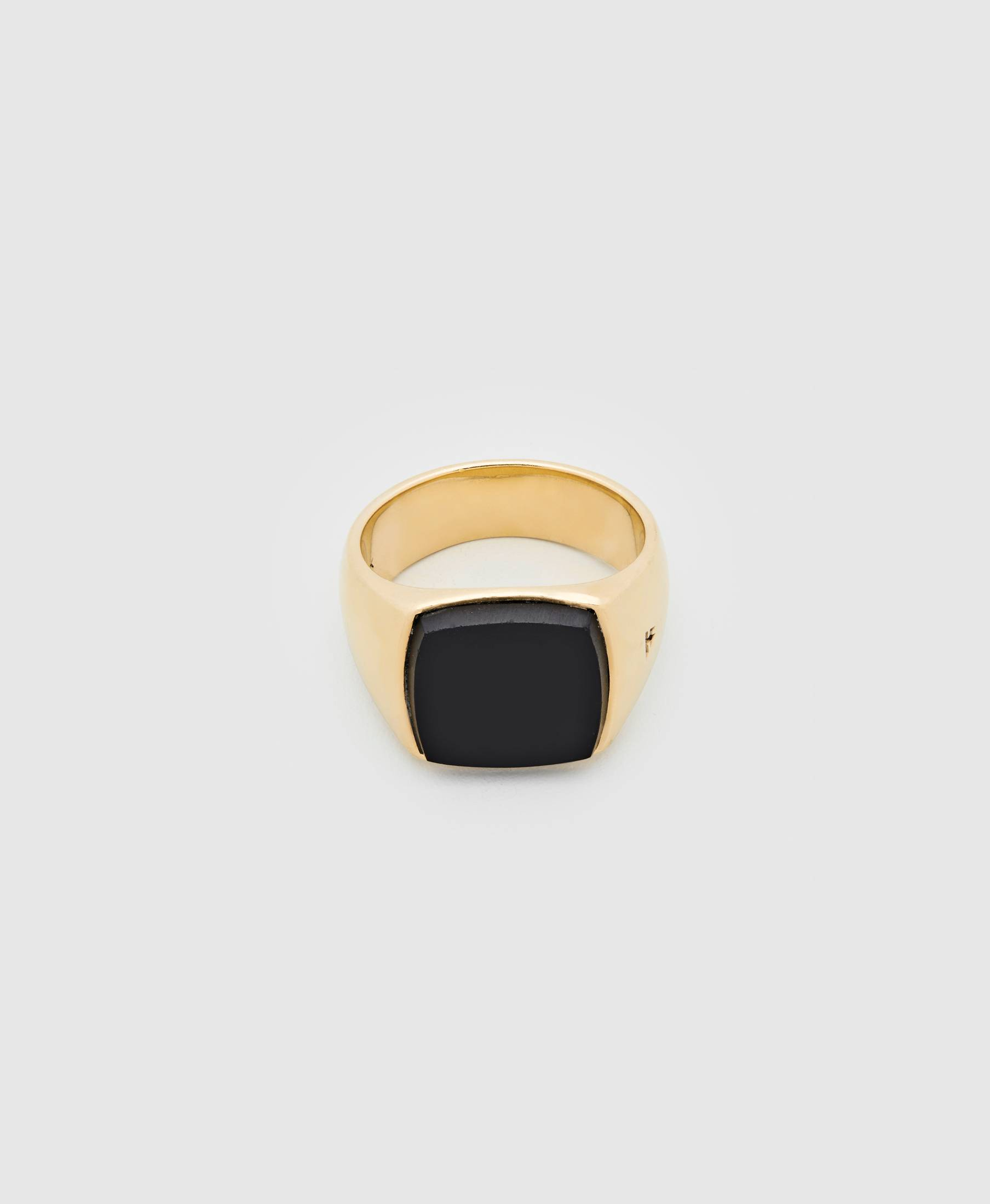 Cushion Gold Black Onyx