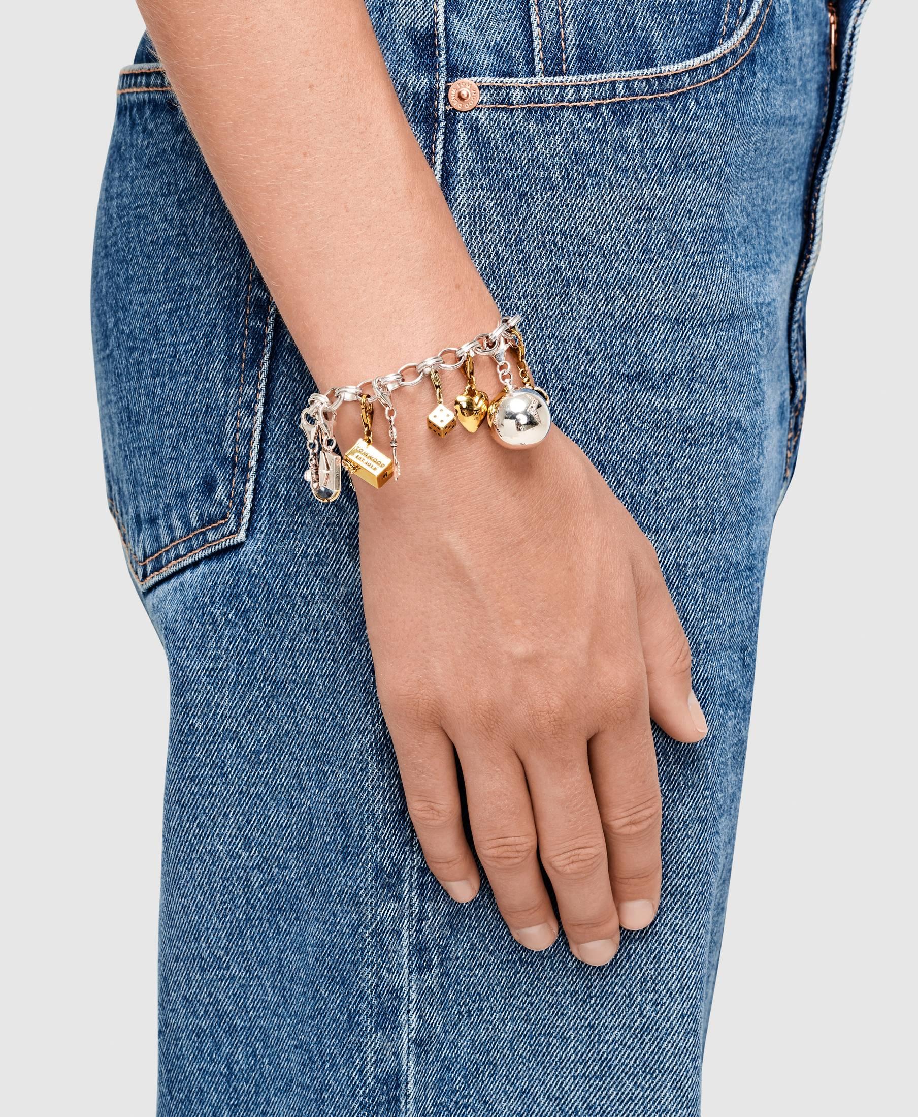 Heart Charm Diamond Gold