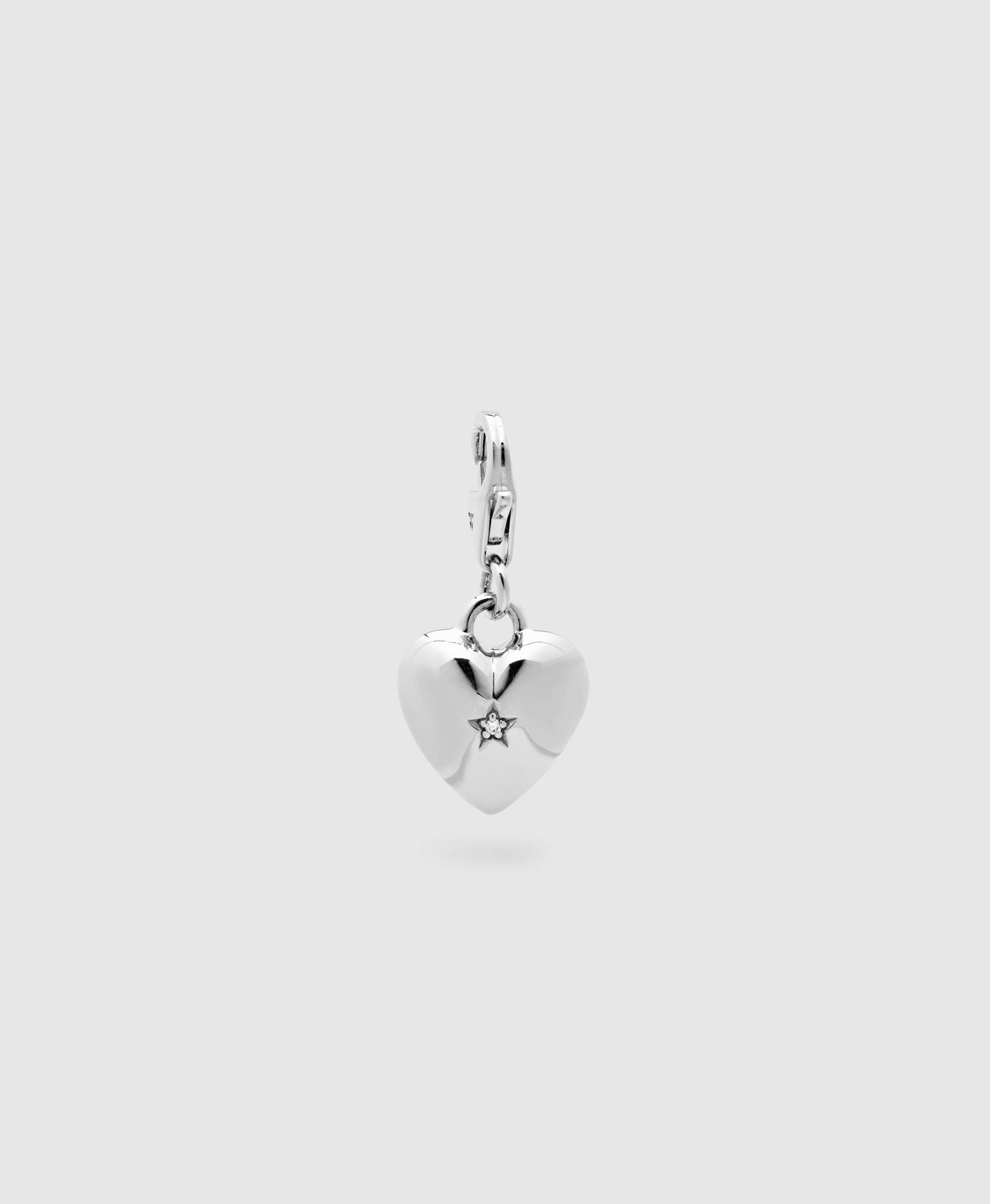 Heart Charm Rock Crystal