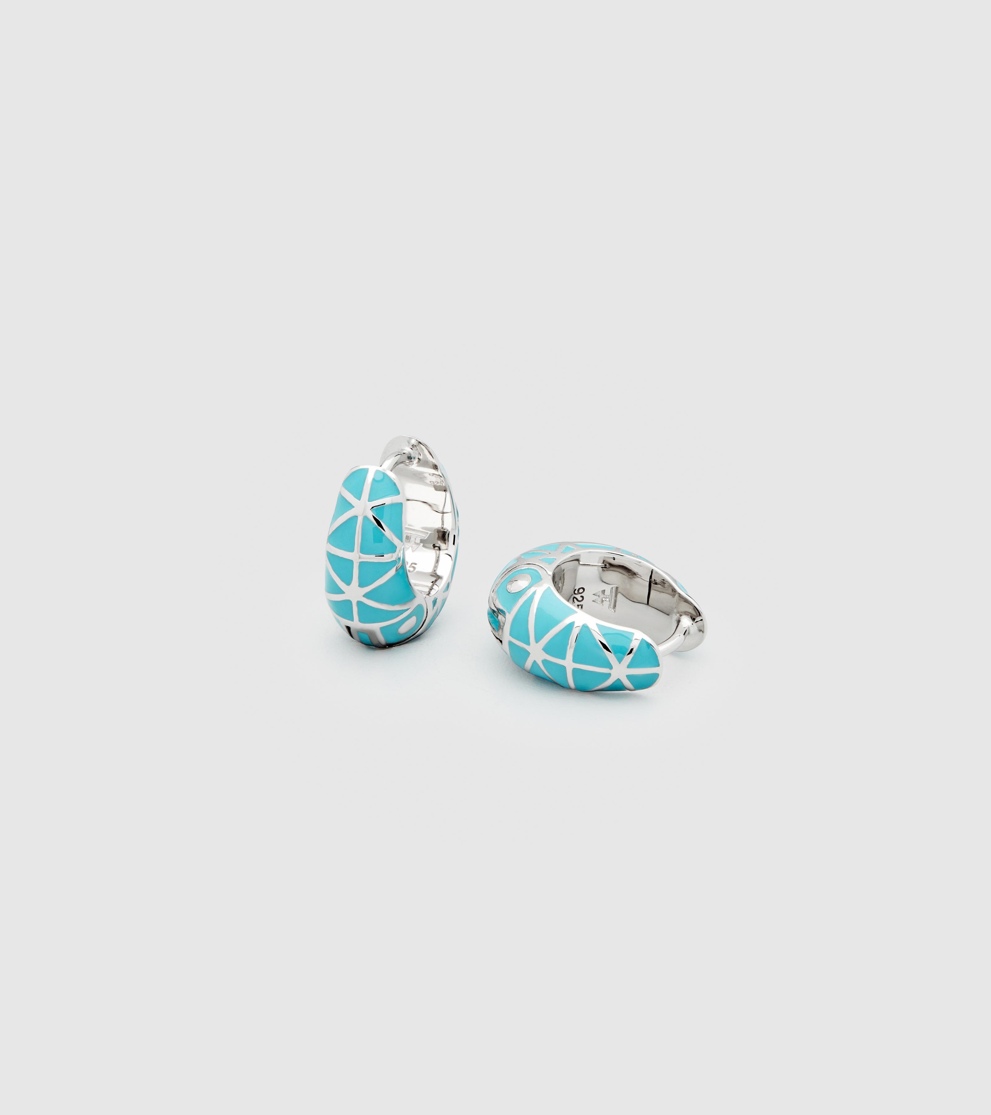 Inka Hoops Turquoise Small