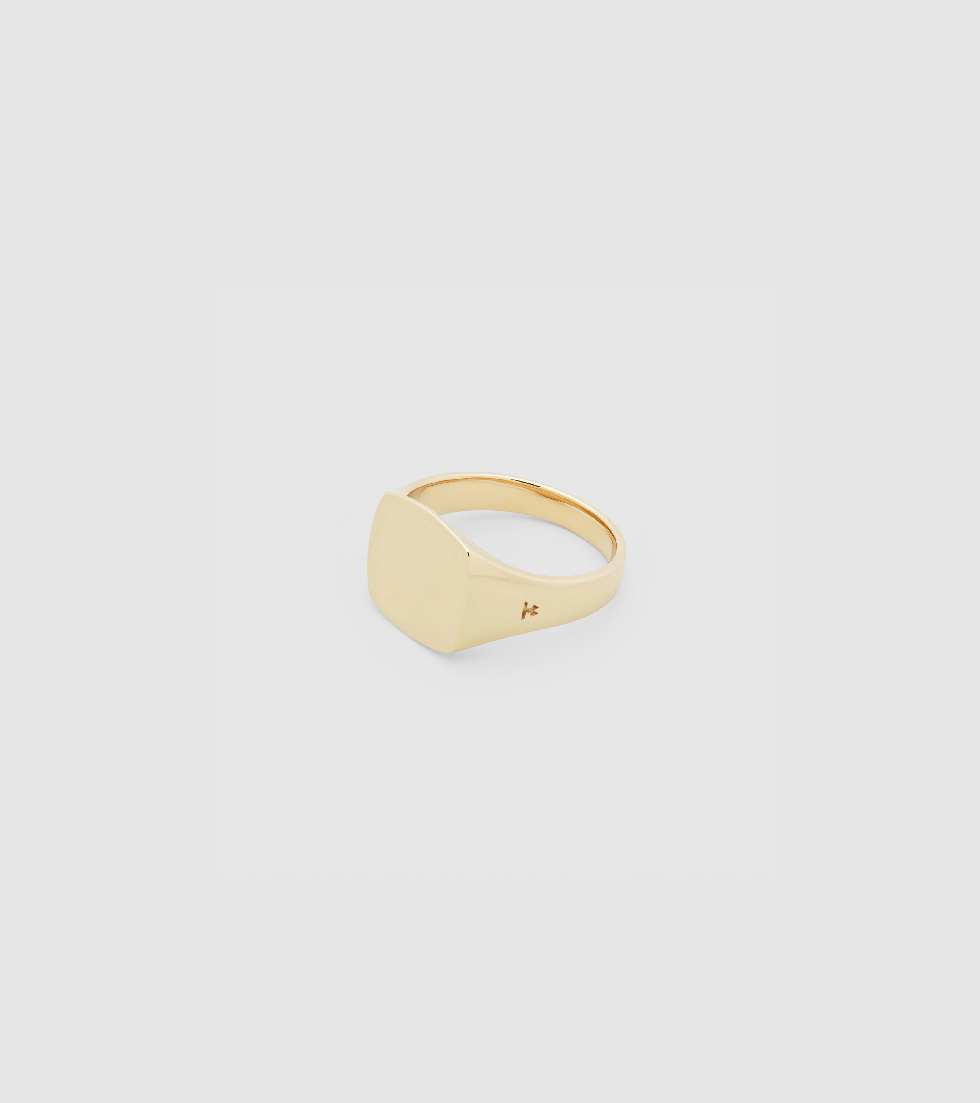 Mini Signet Cushion Gold