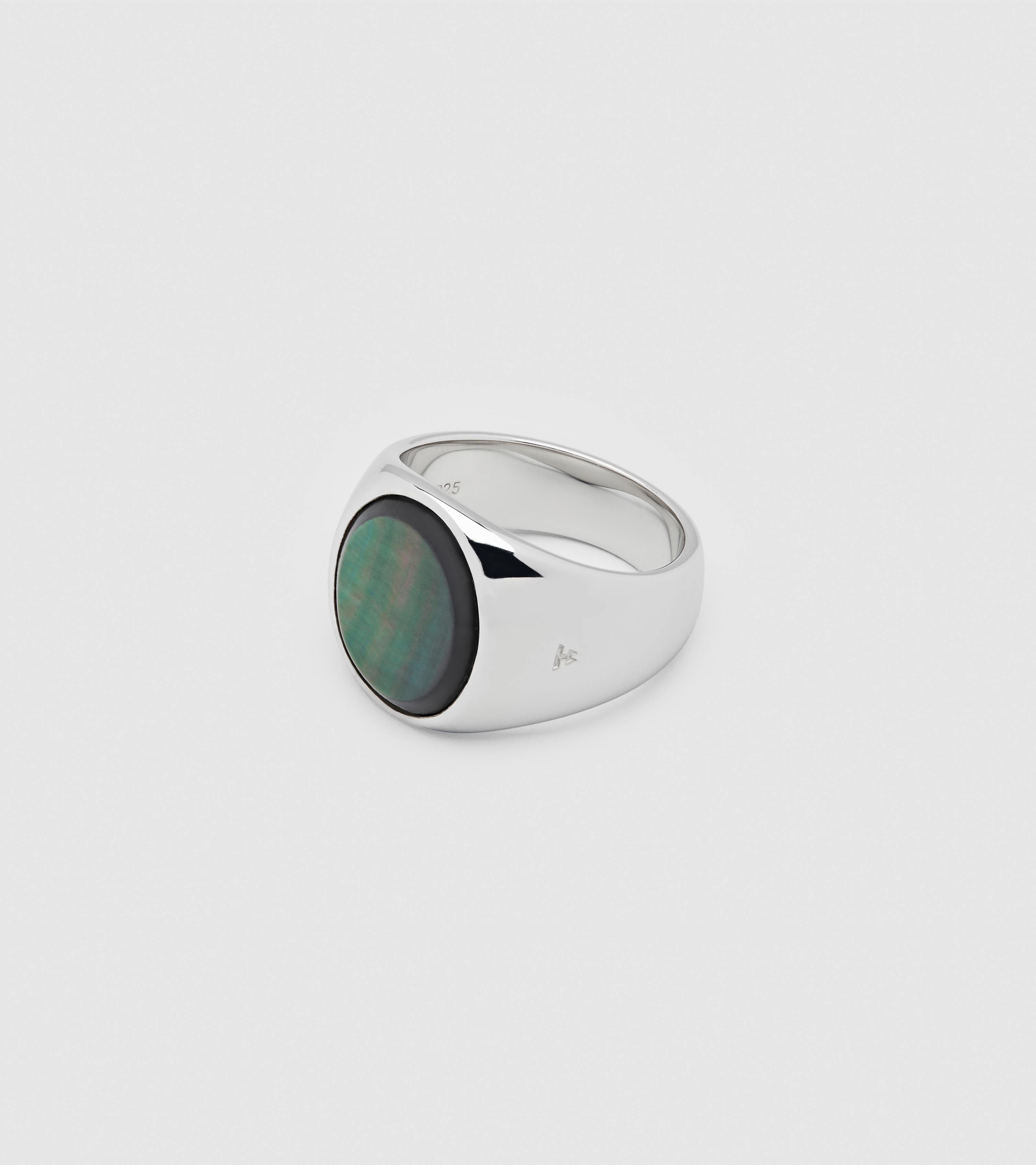 Oval Black Mother of Pearl