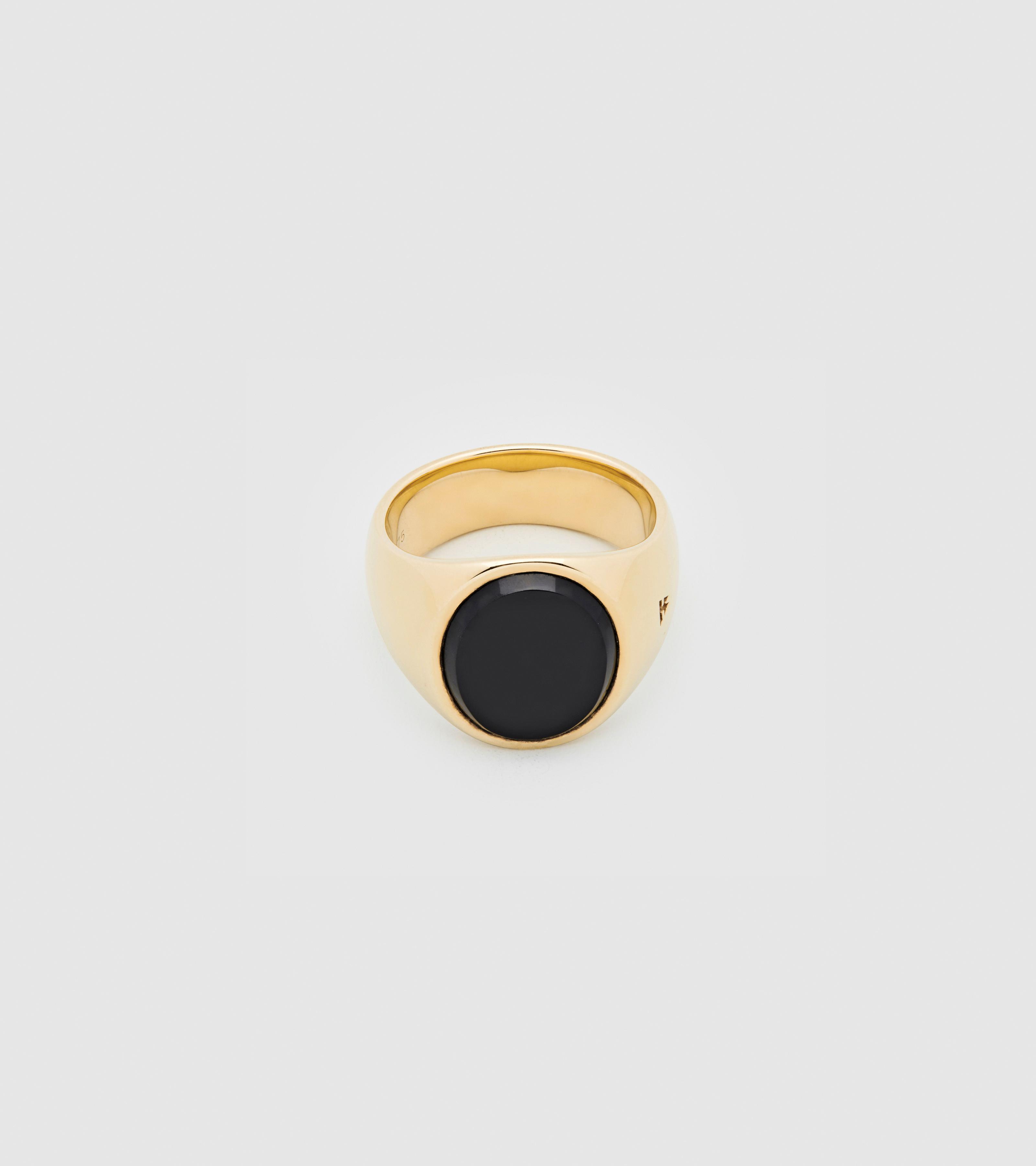 Oval Gold Black Onyx