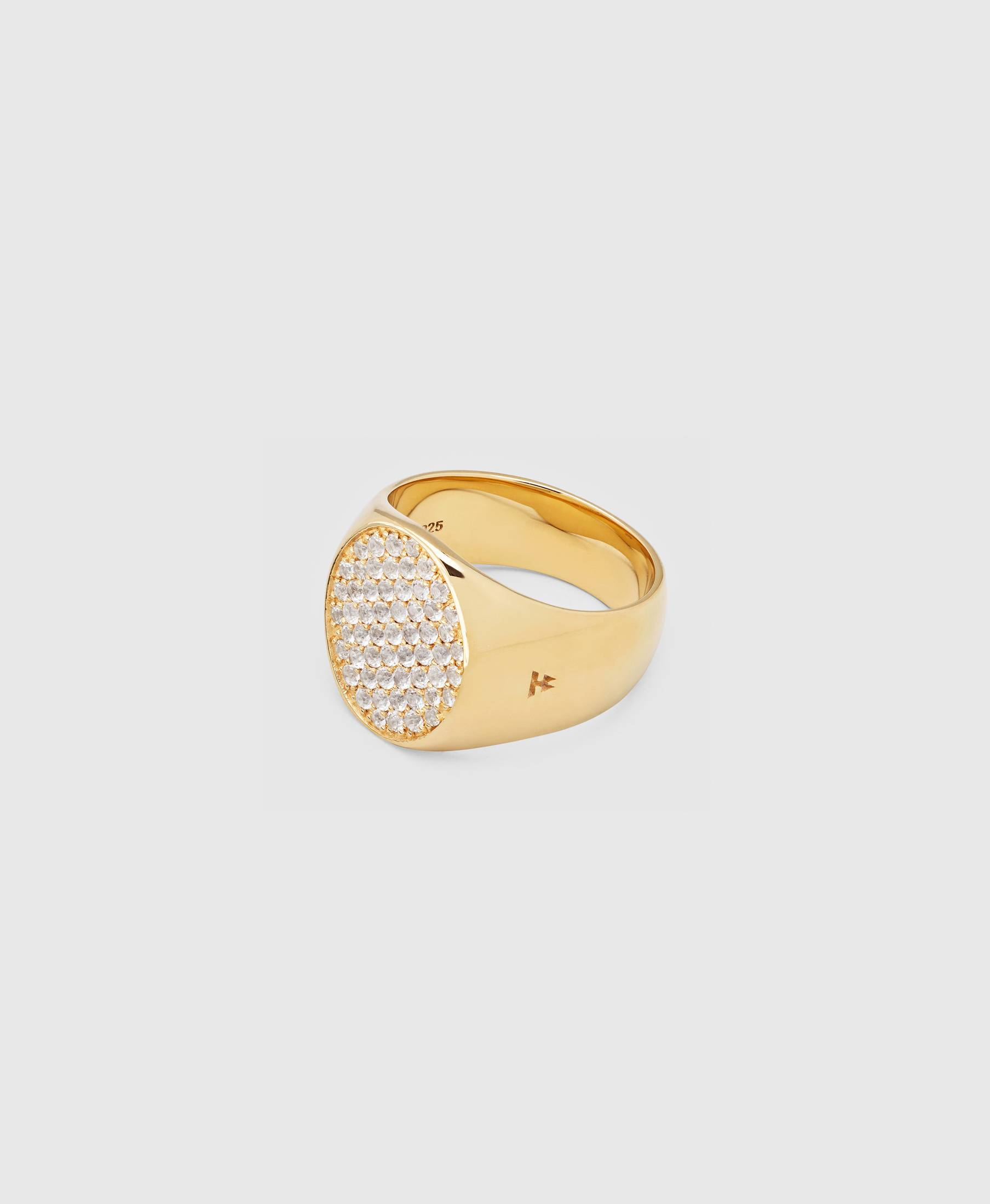Pinkie Oval Gold White Diamond