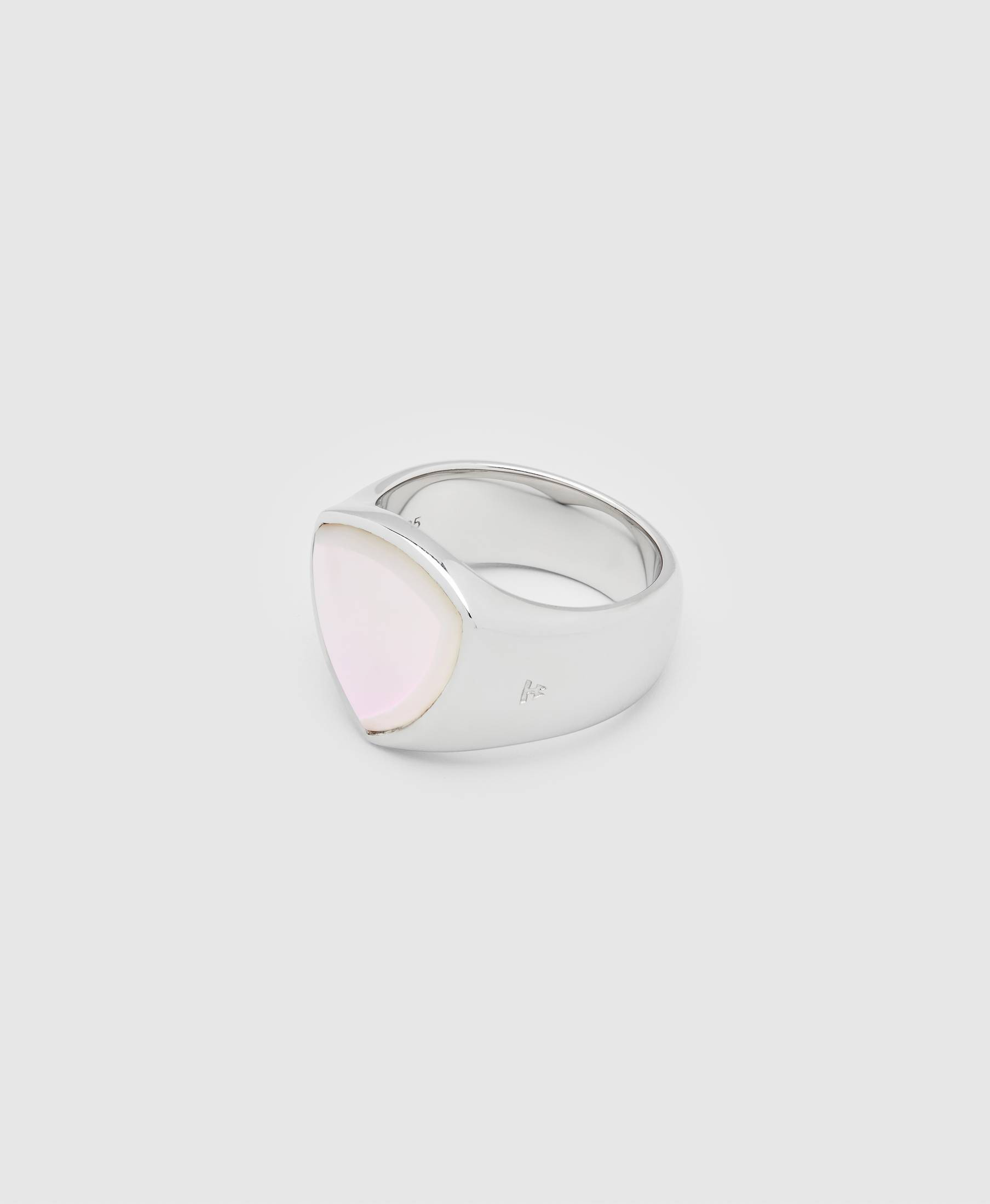 Shield White Mother of Pearl