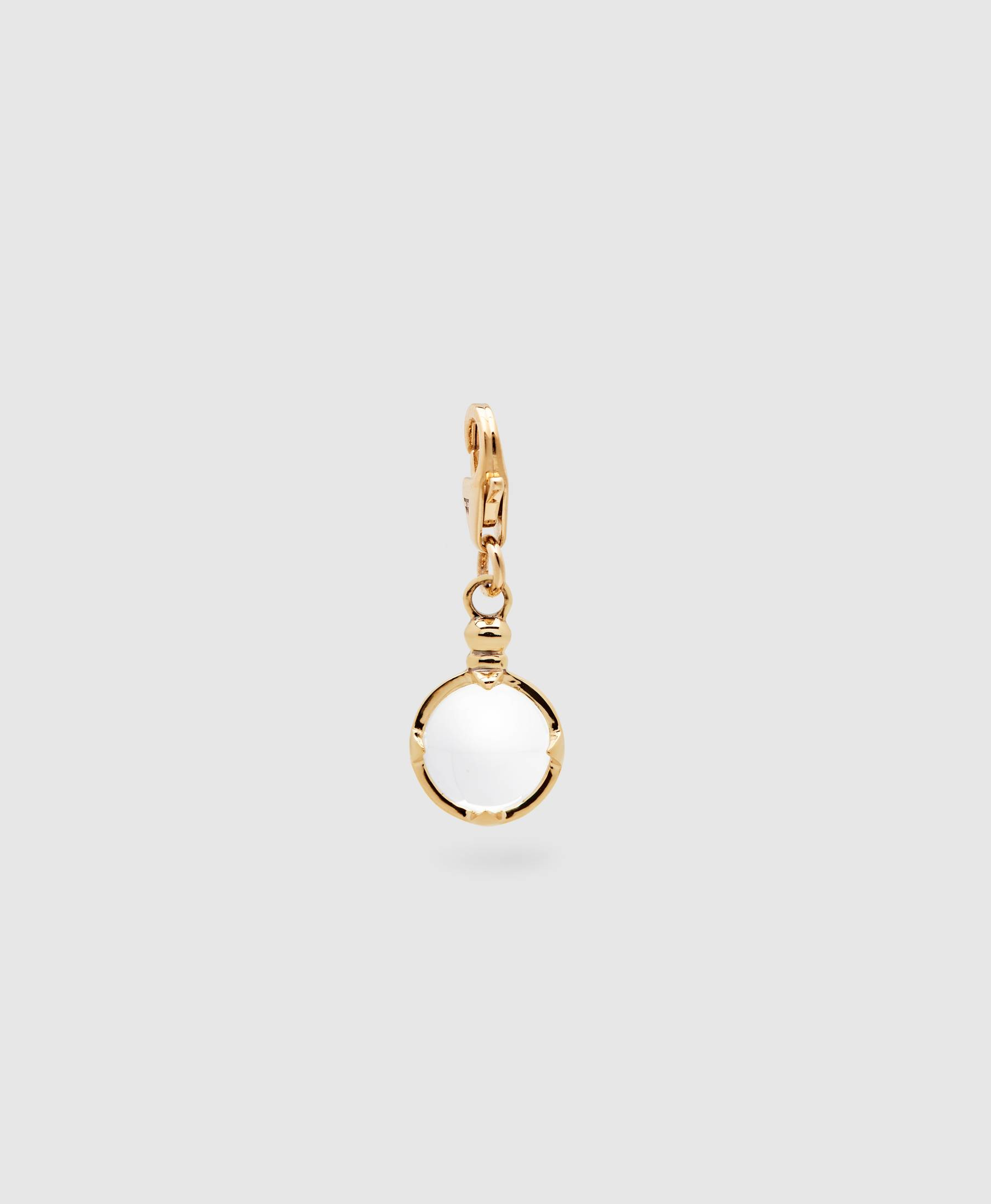 Snowball Crystal Charm Gold