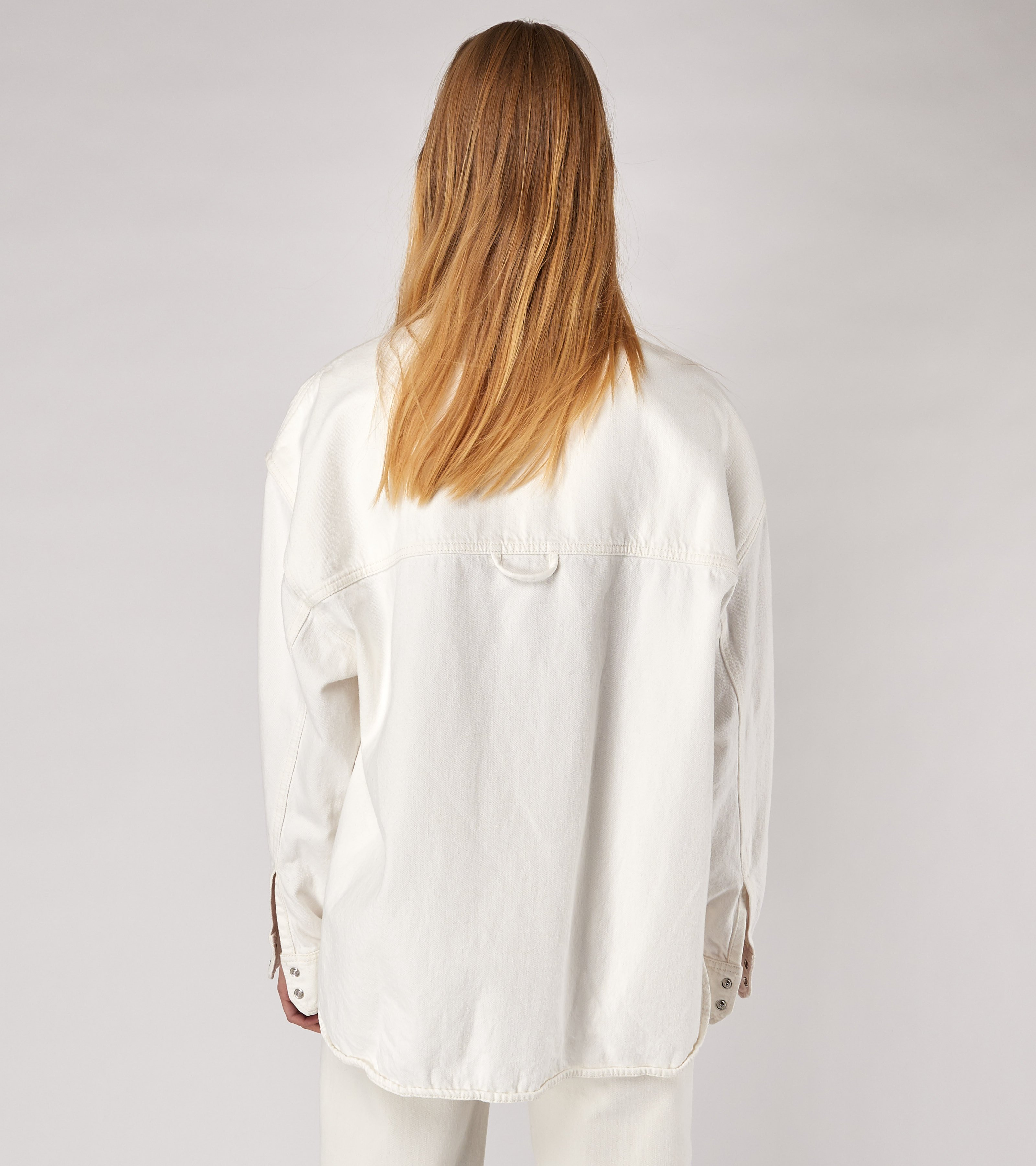 Clara Denim Shirt Vintage White