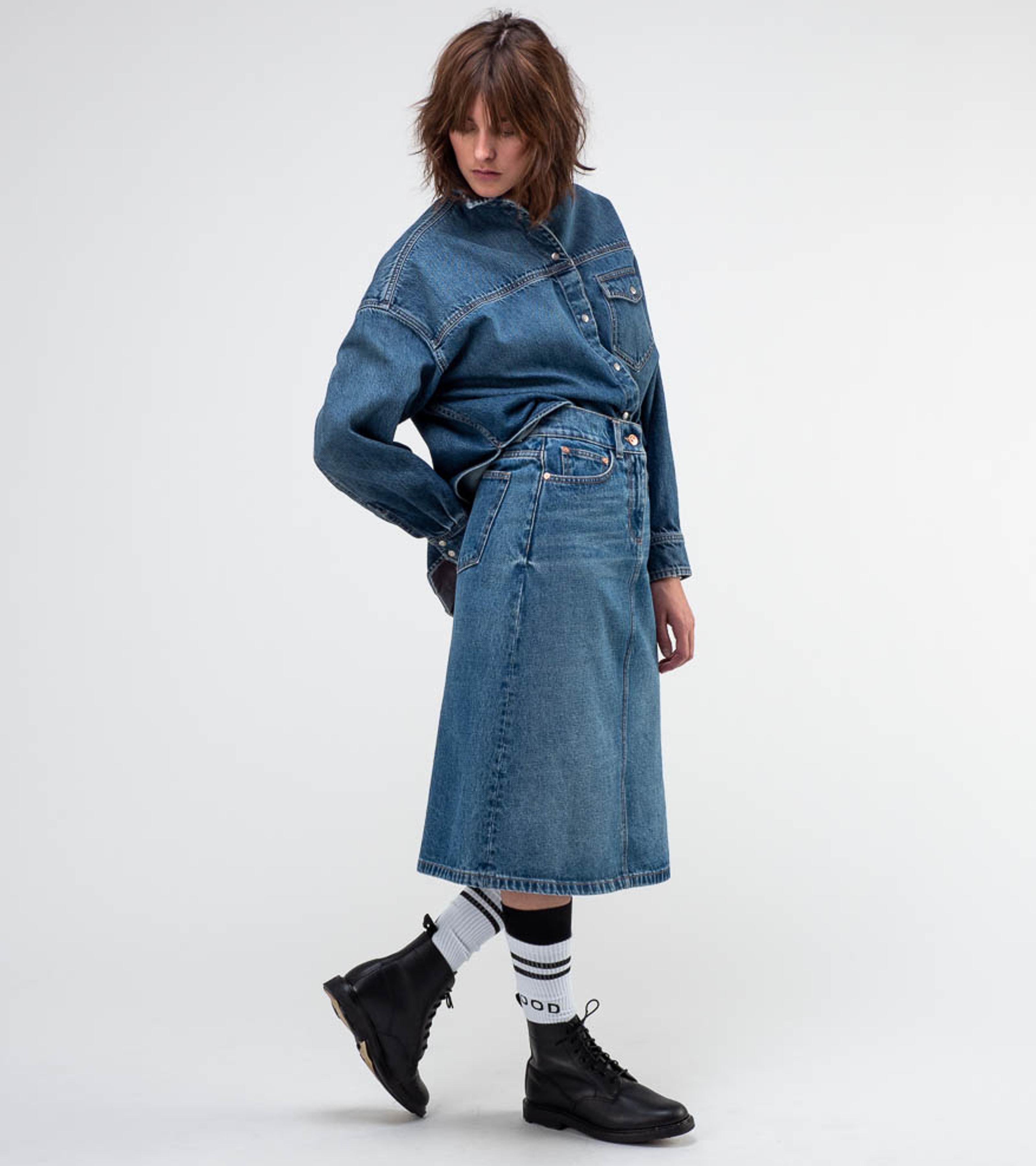 Clara Denim Shirt Nice Blue