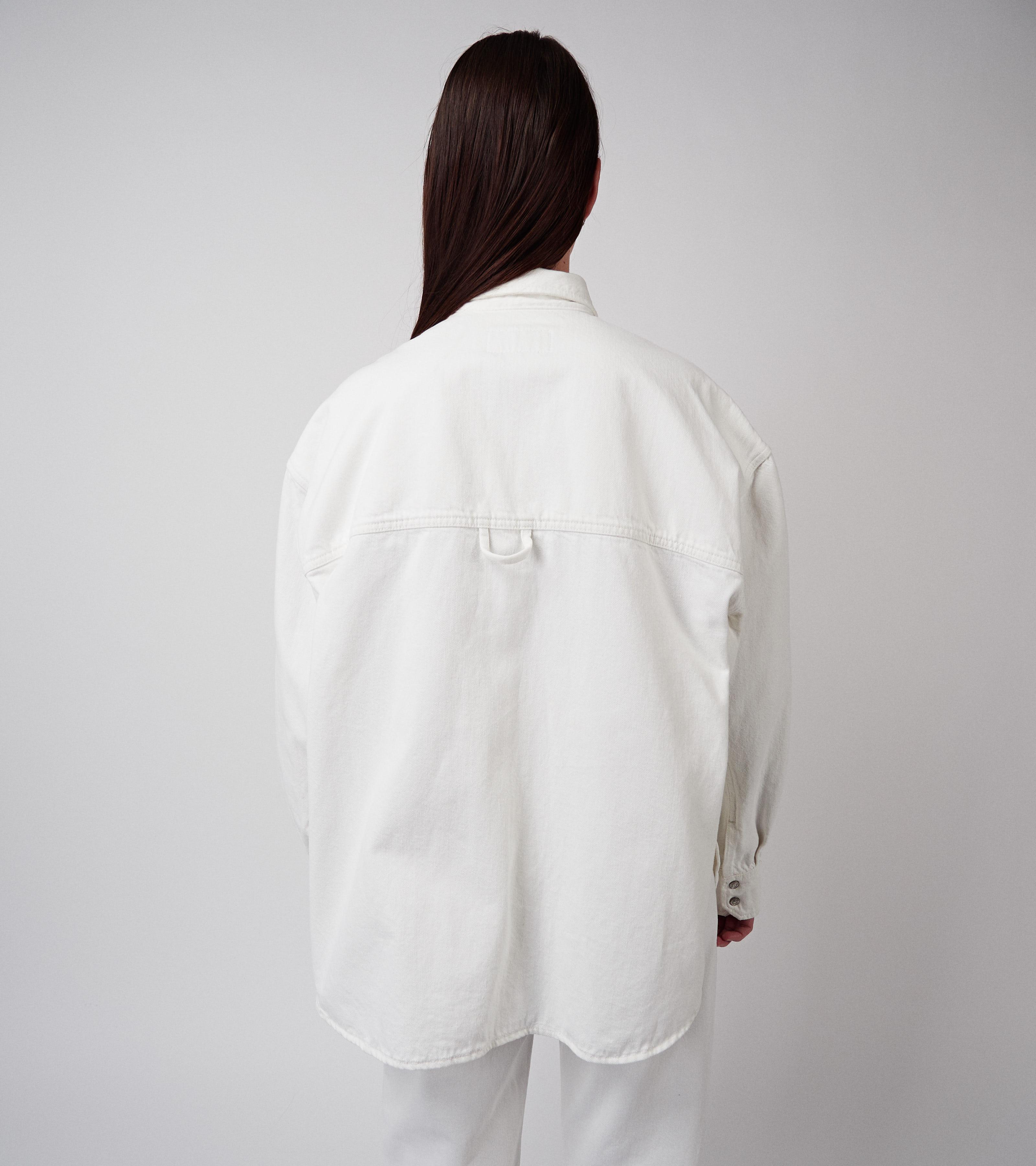 Clara Denim Shirt Vintage White