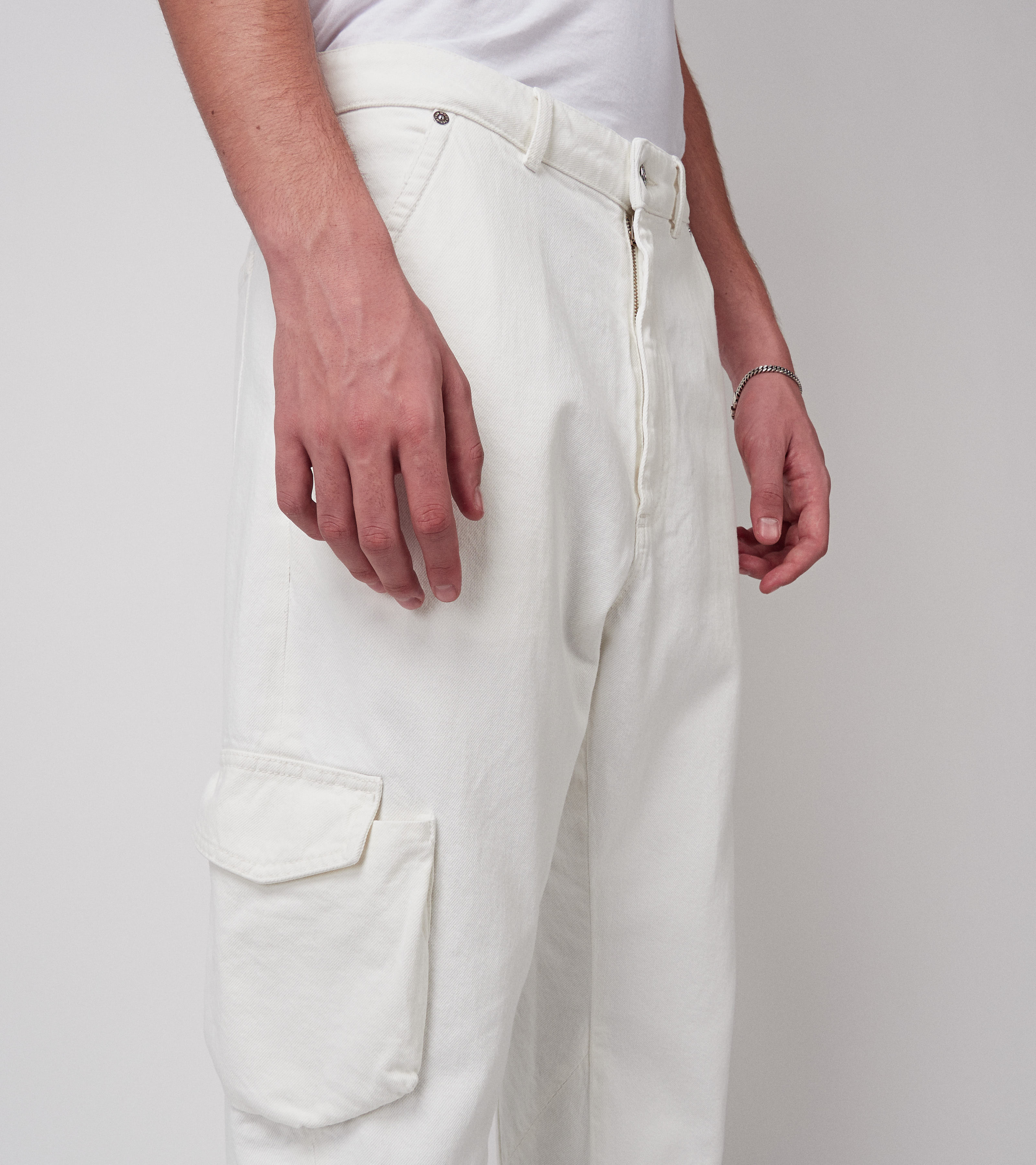 John Denim Pants Vintage White
