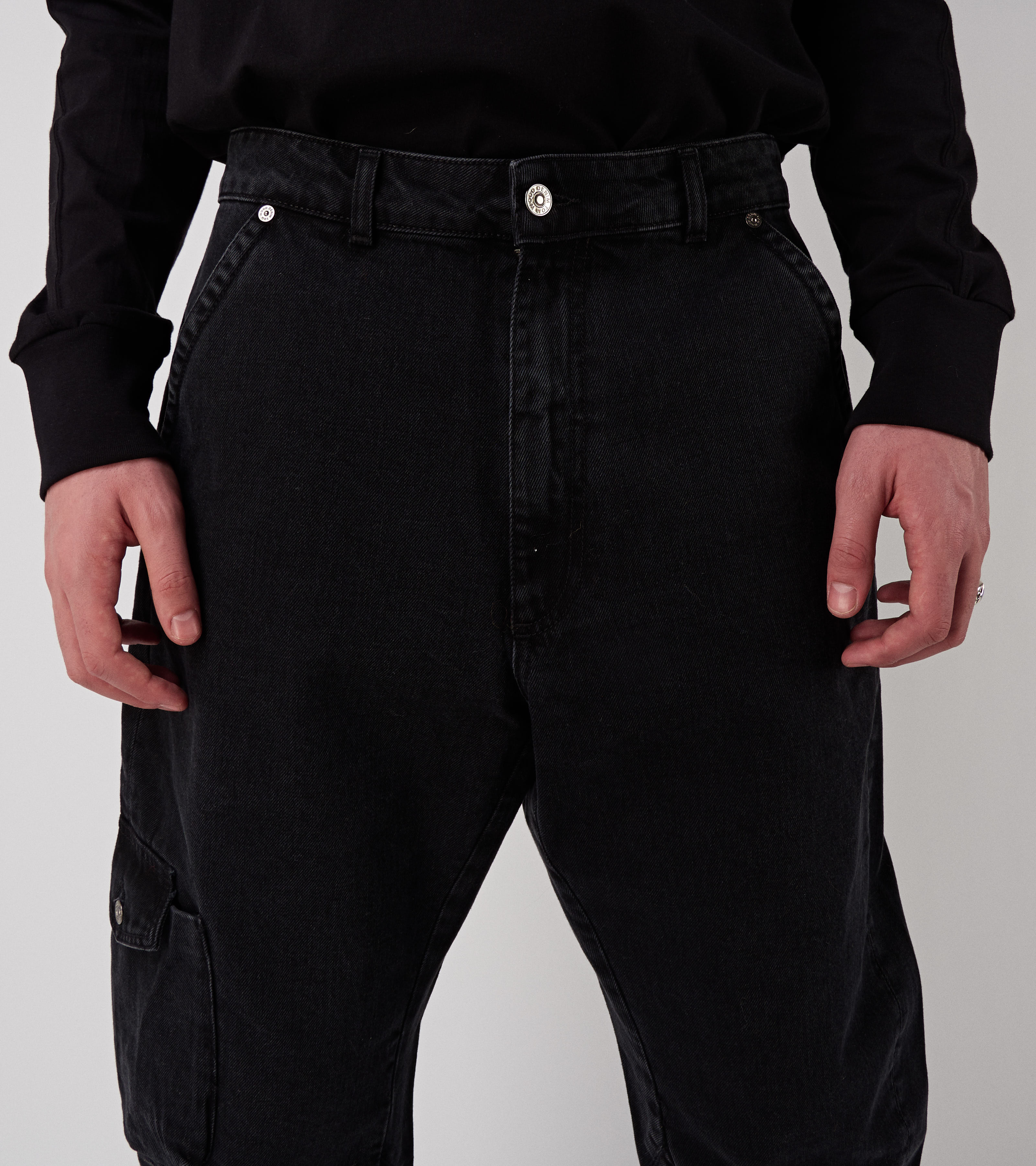 John Denim Pants Used Black