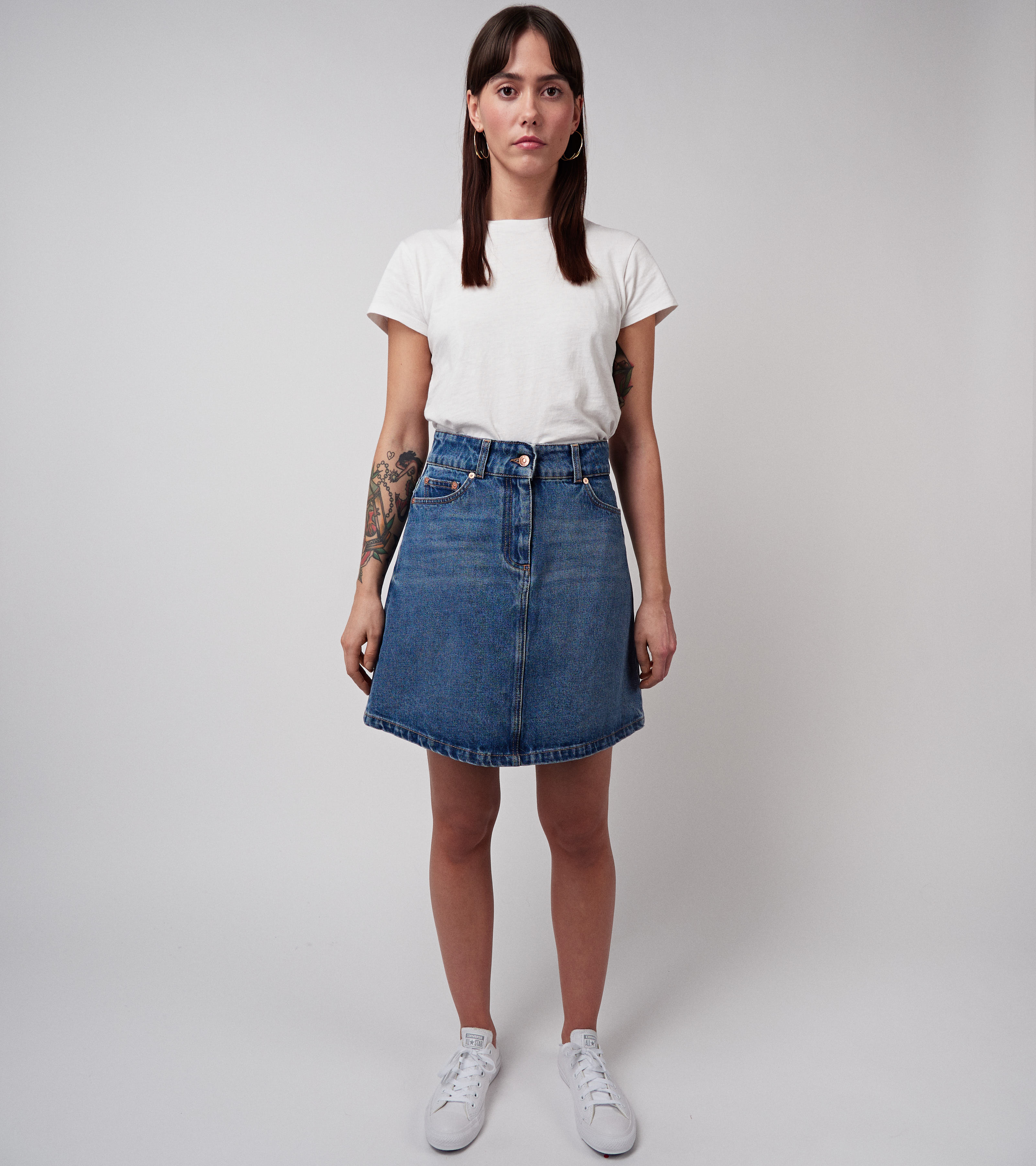 Maiken Denim Skirt Nice Blue