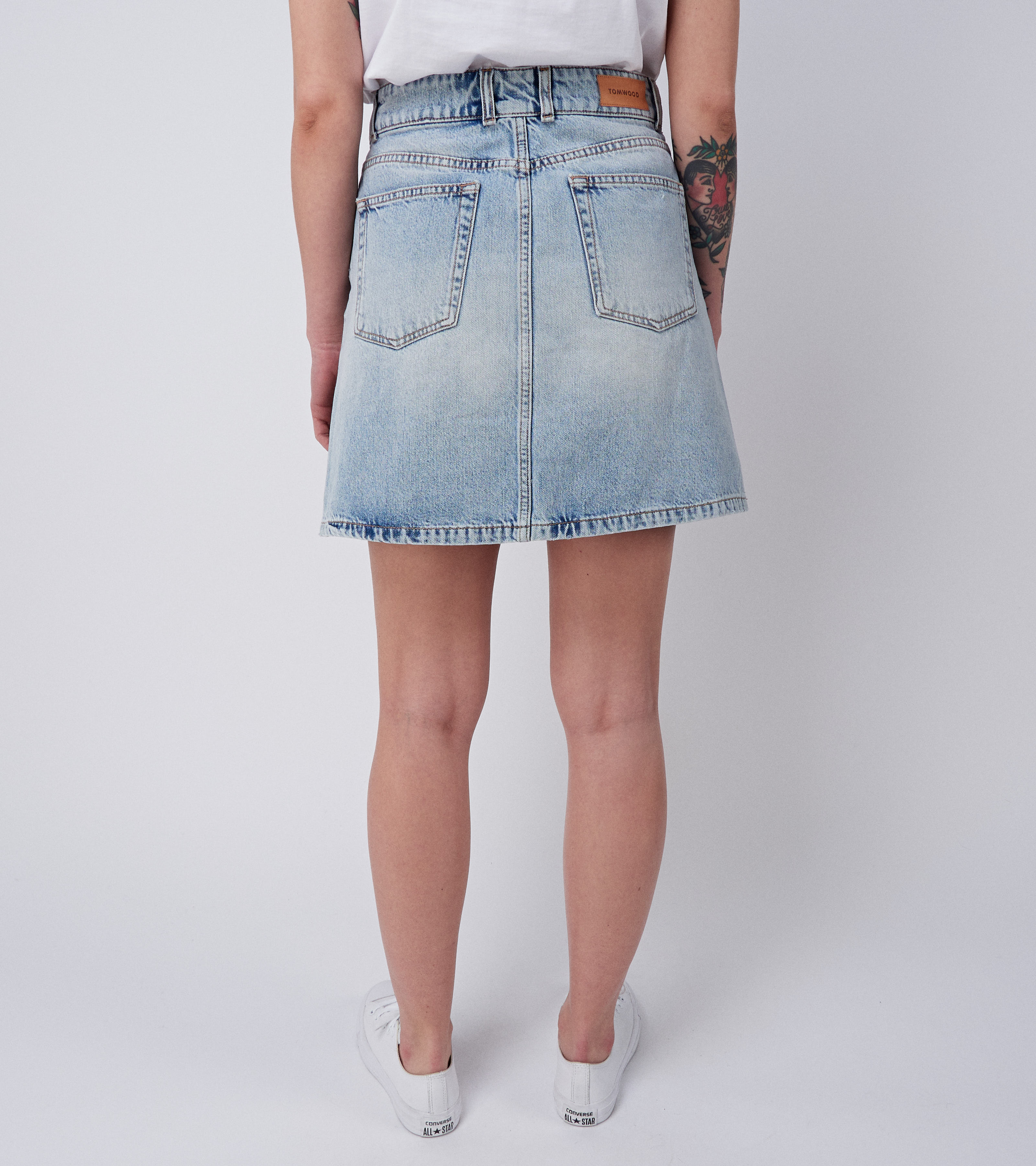 Maiken Denim Skirt Beach Worn