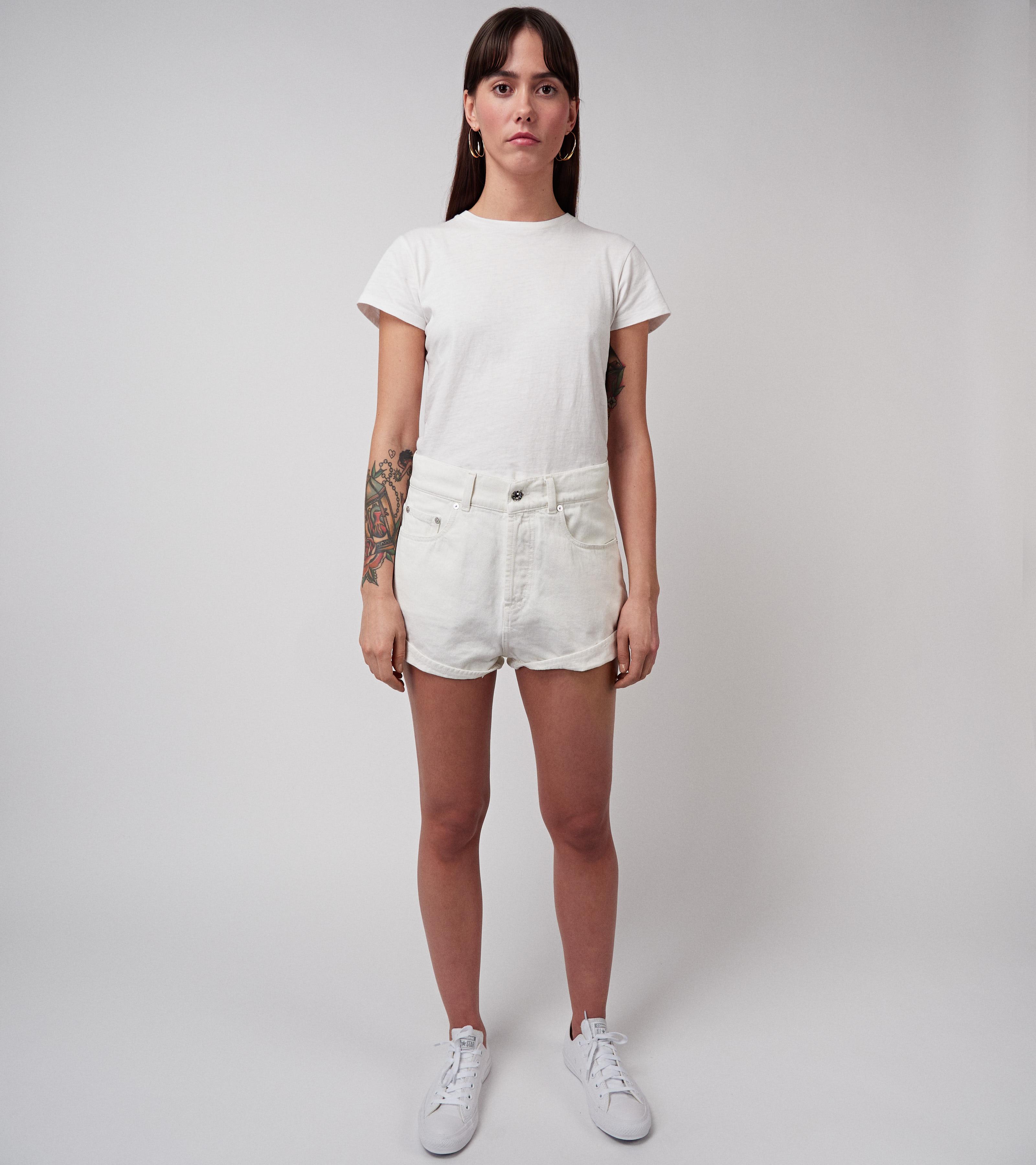Mia Denim Shorts Vintage White