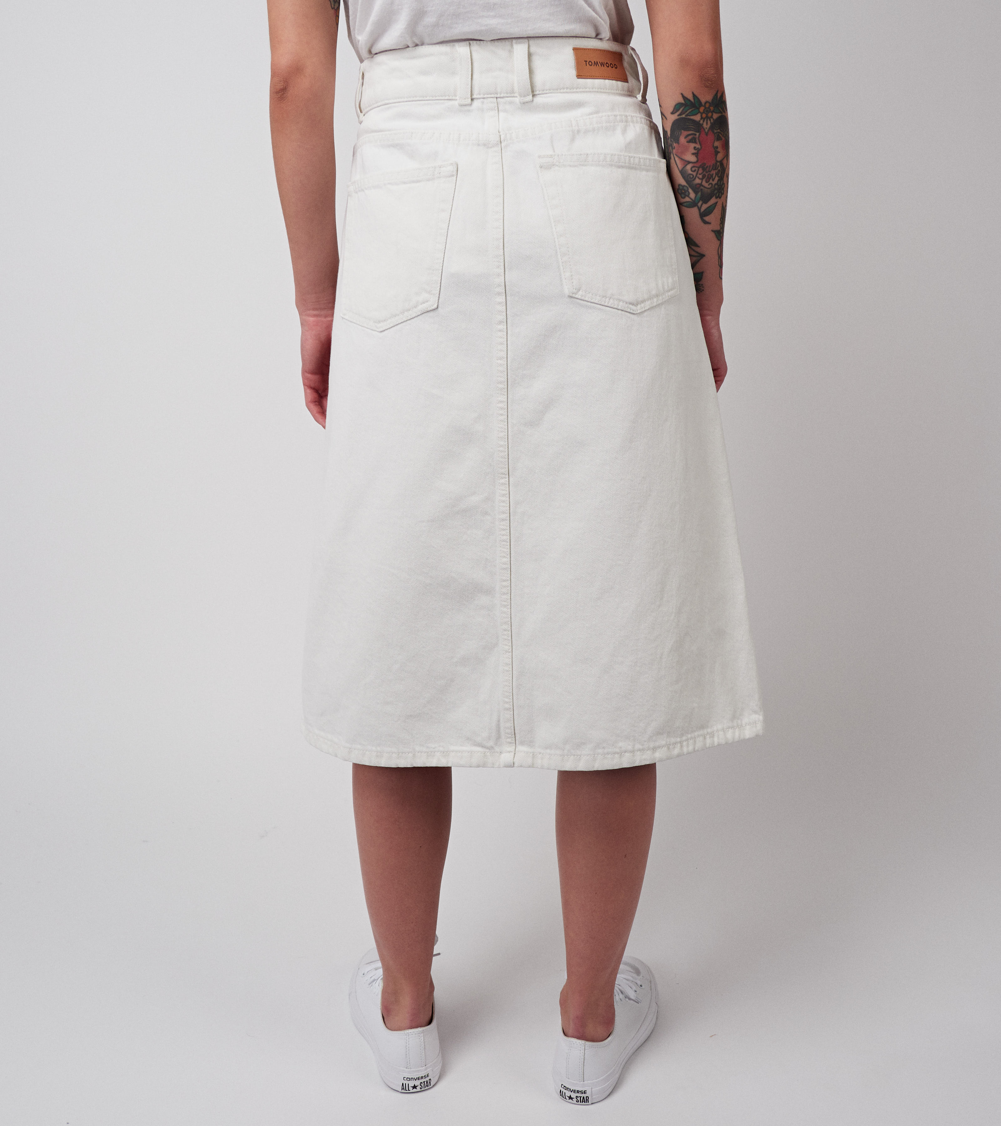 Miriam Denim Skirt Vintage White