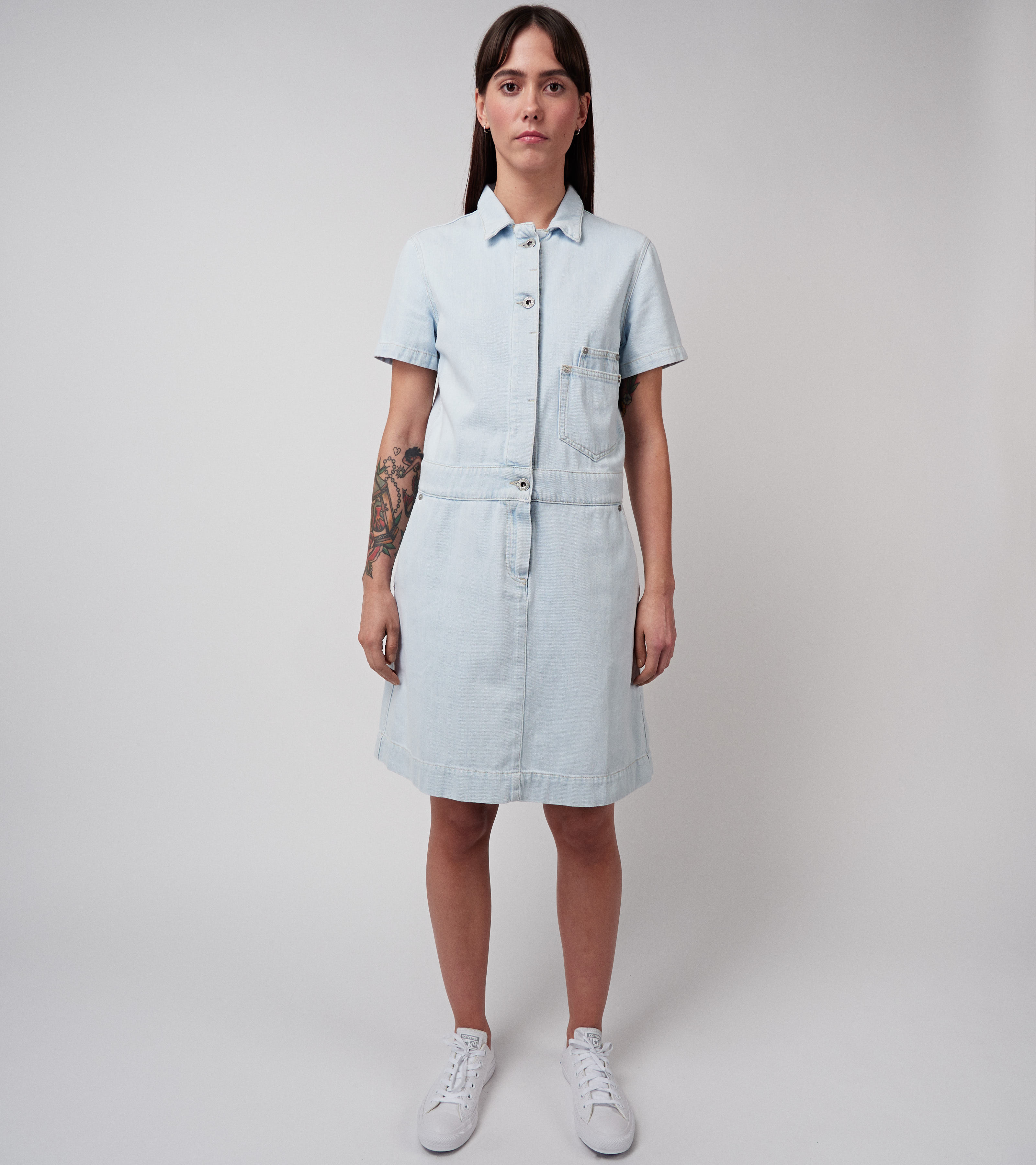 Serena Dress Sky Blue