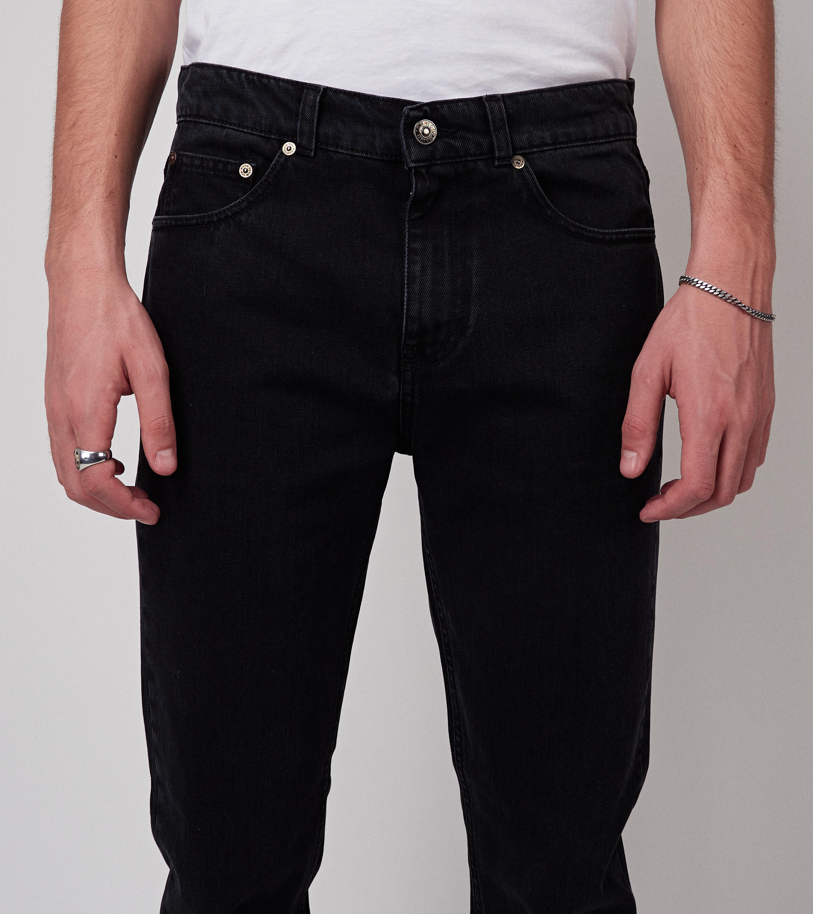 Straight Used Black 100% Cotton