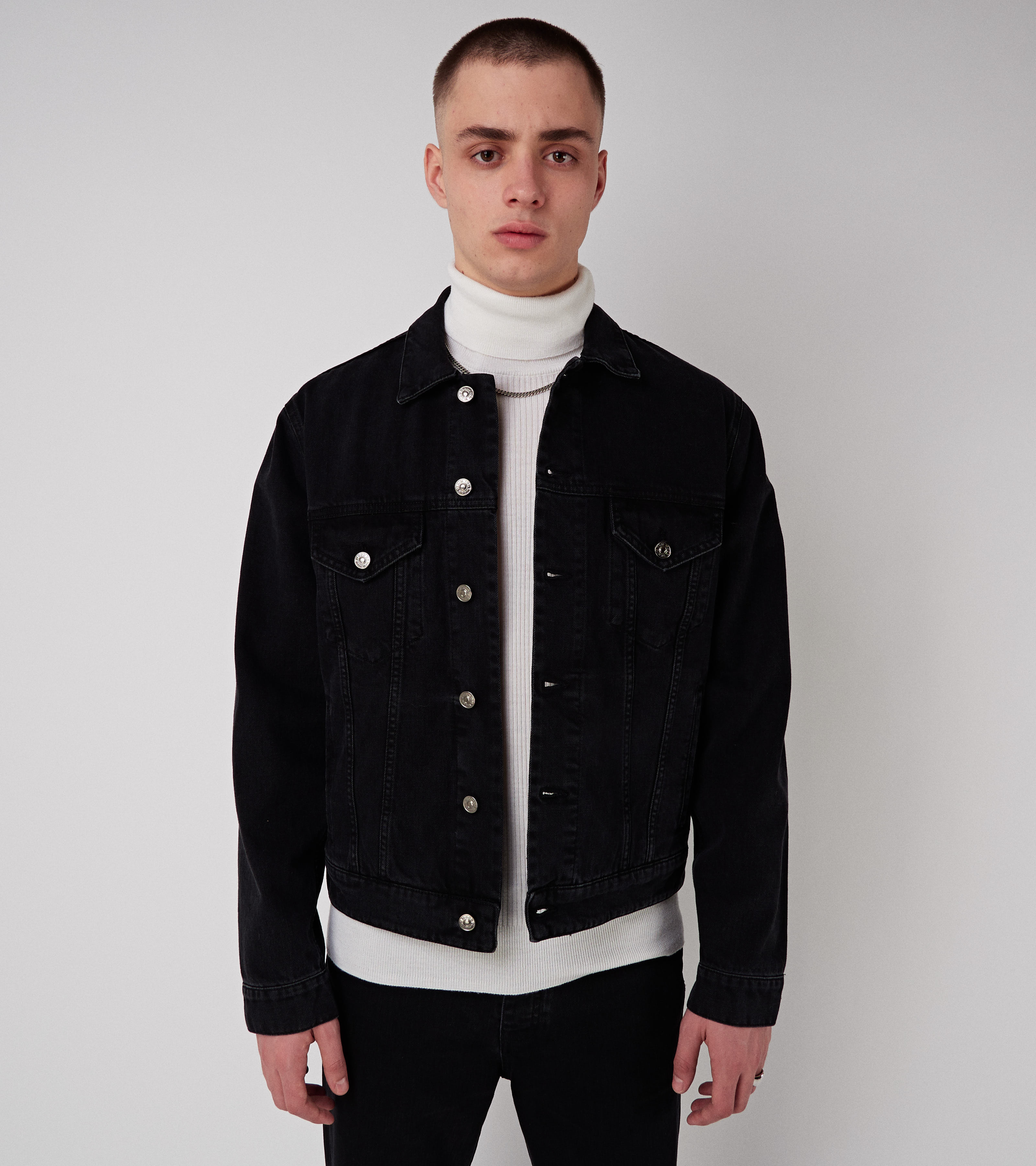Trucker Jacket Used Black