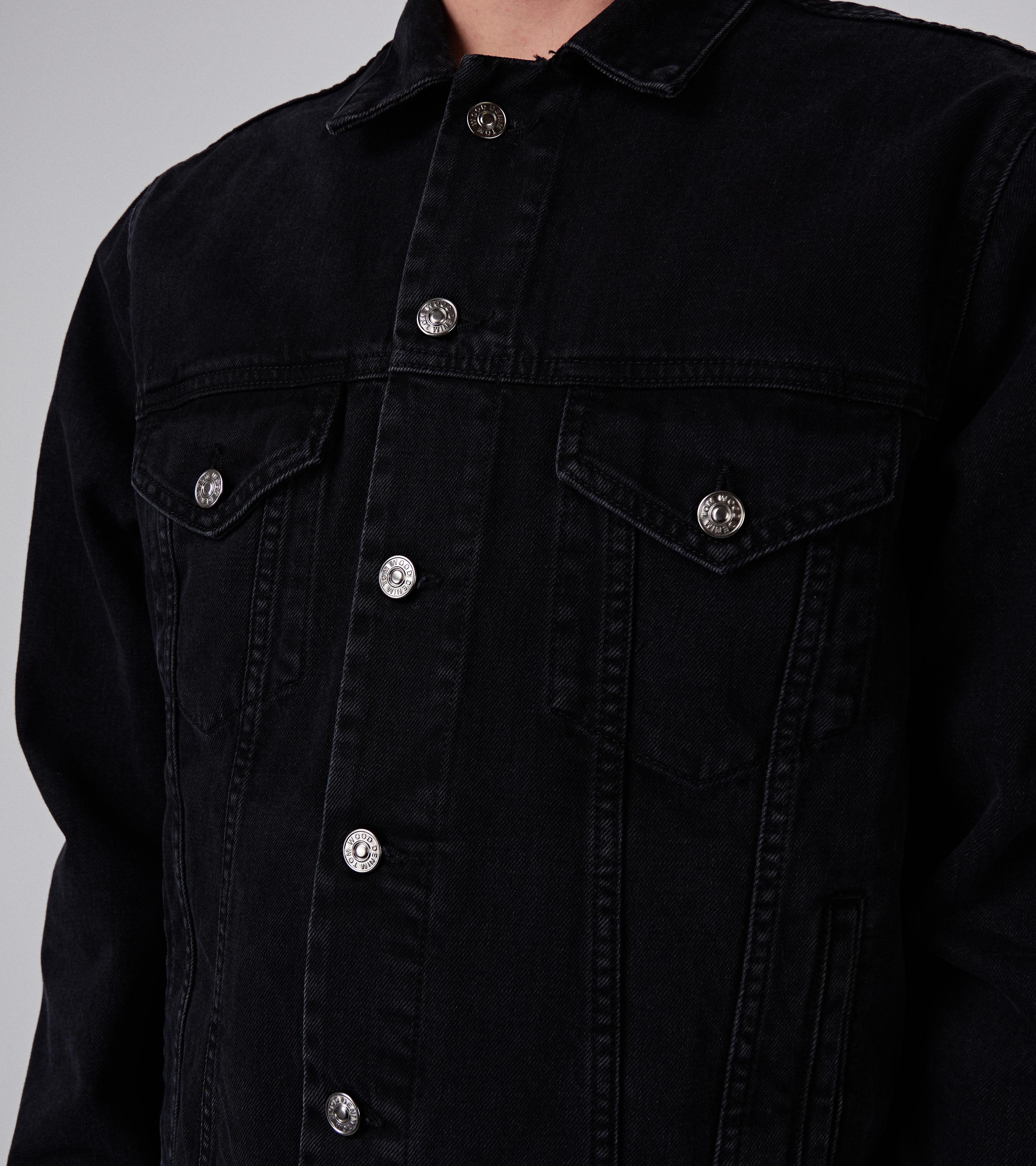 Trucker Jacket Used Black