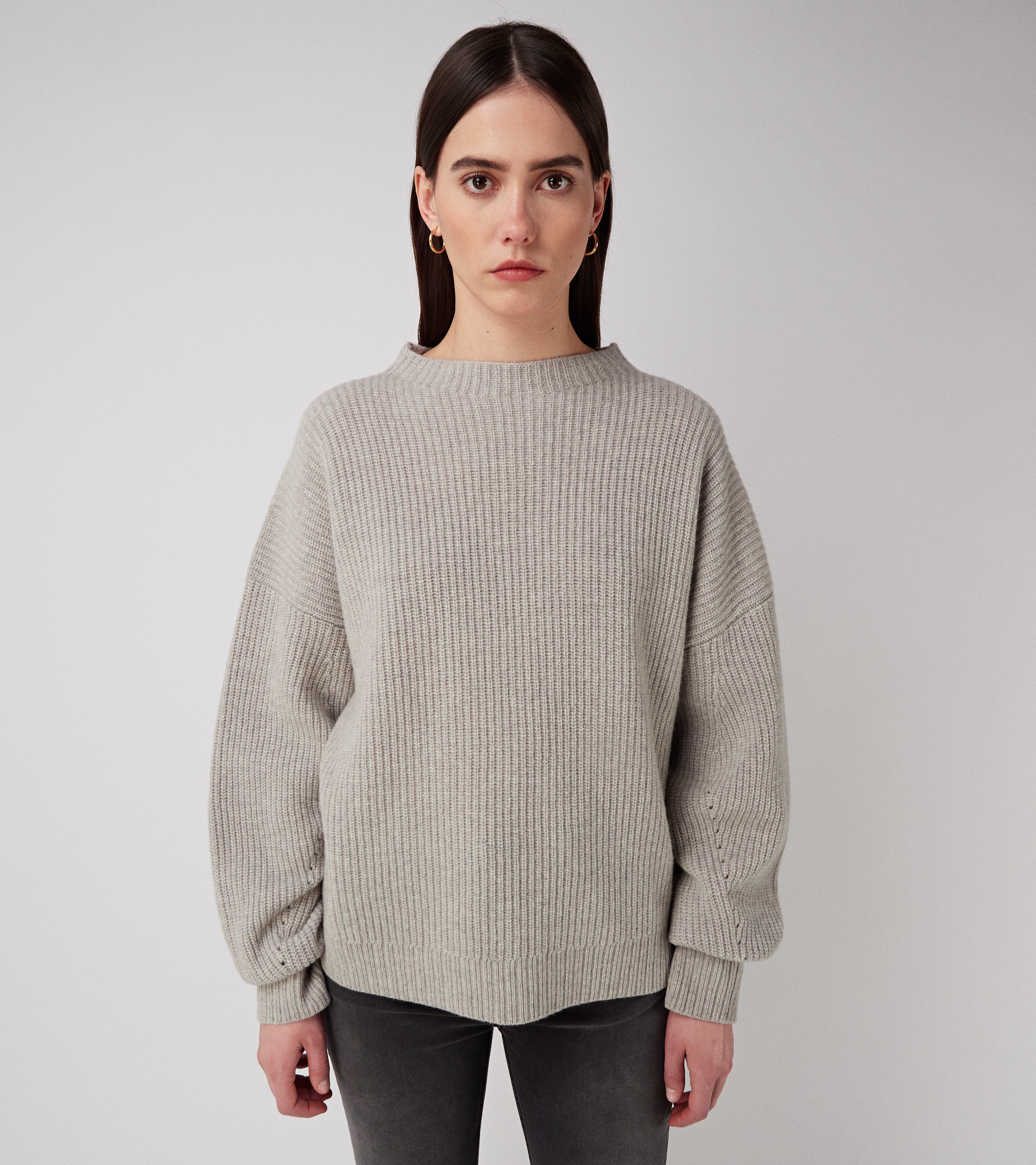 Kara Oversized Sweater Grey Melange