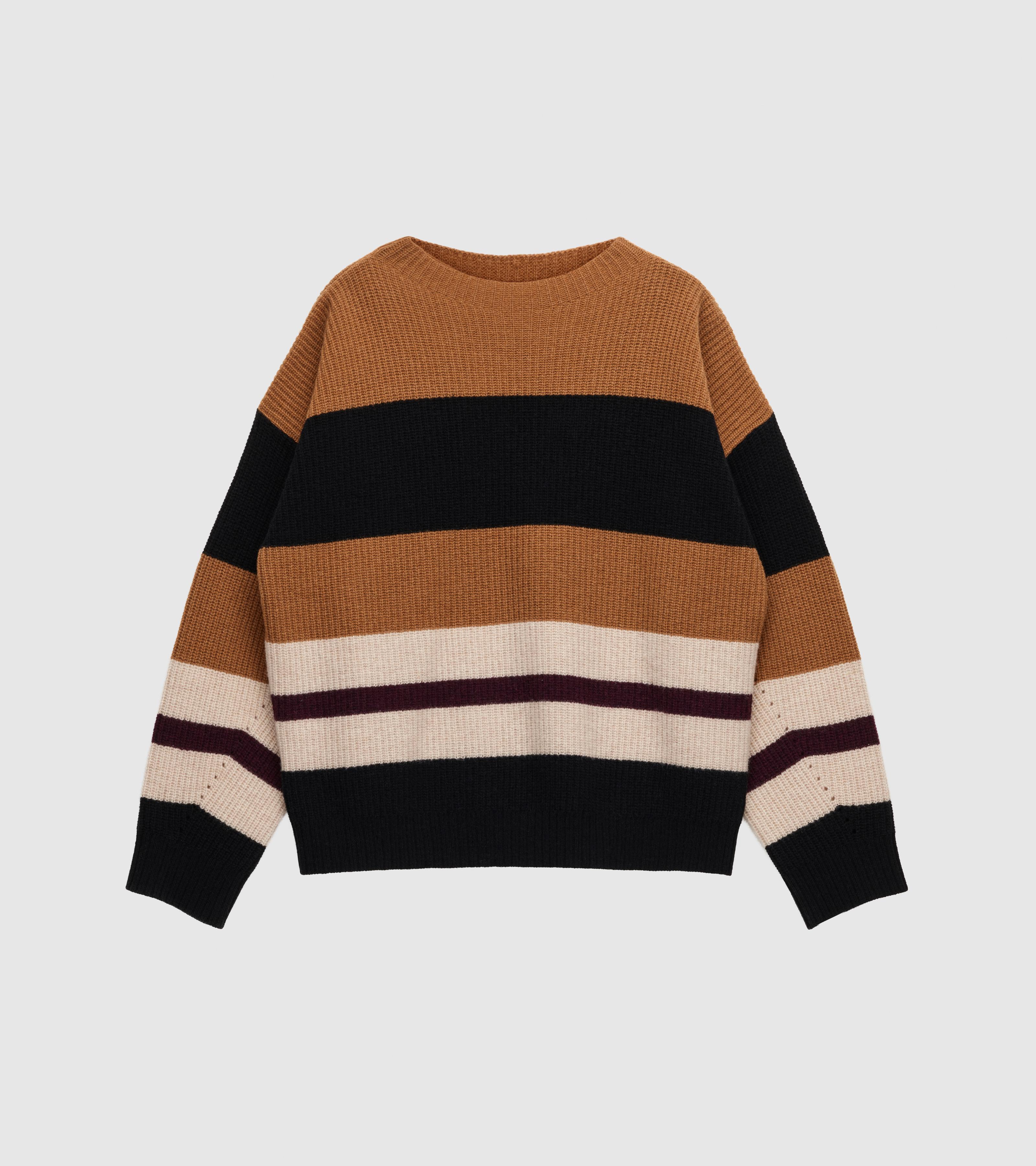 Kara Oversized Sweater Knitted Stripes