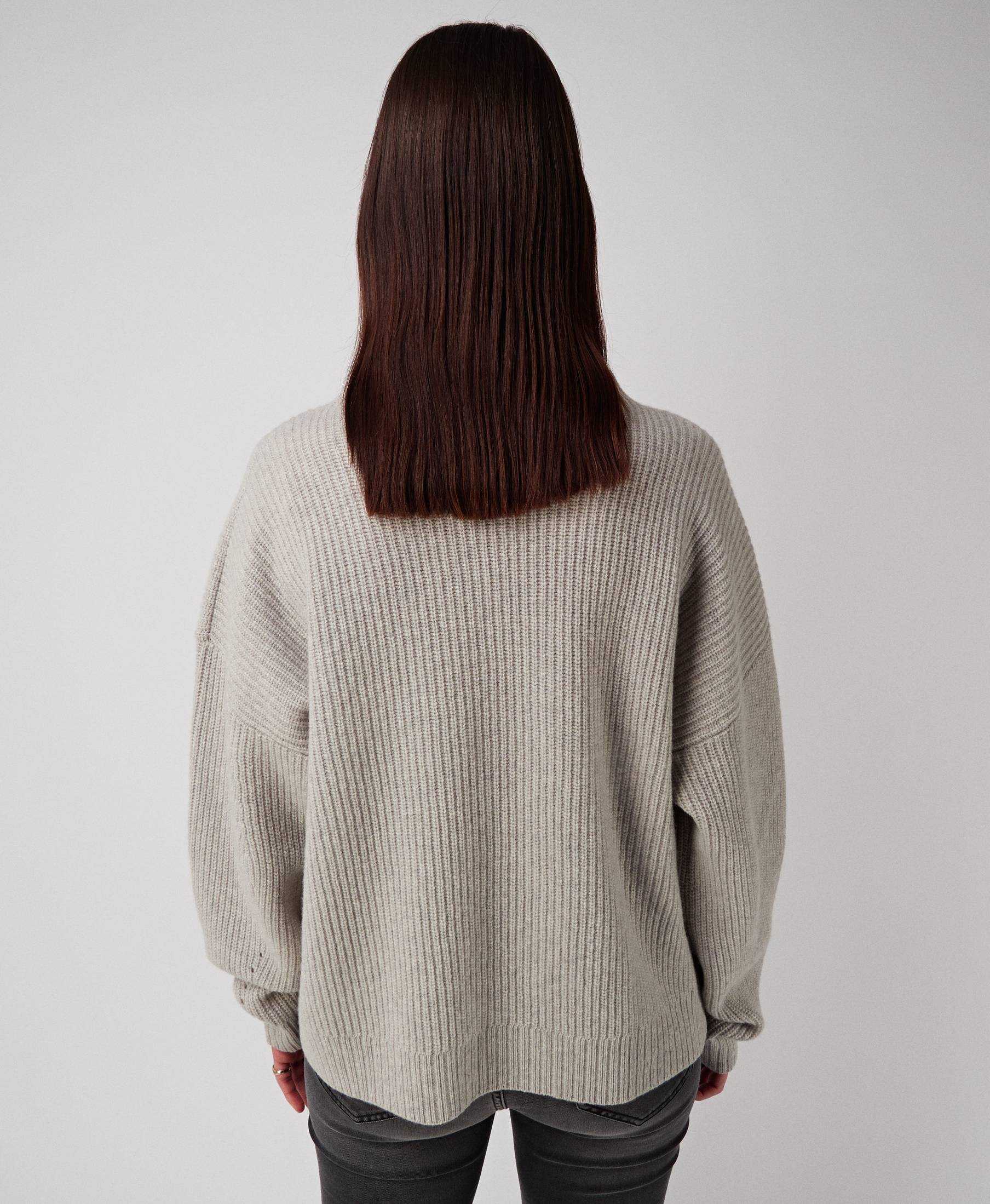 Kara Oversized Sweater Grey Melange