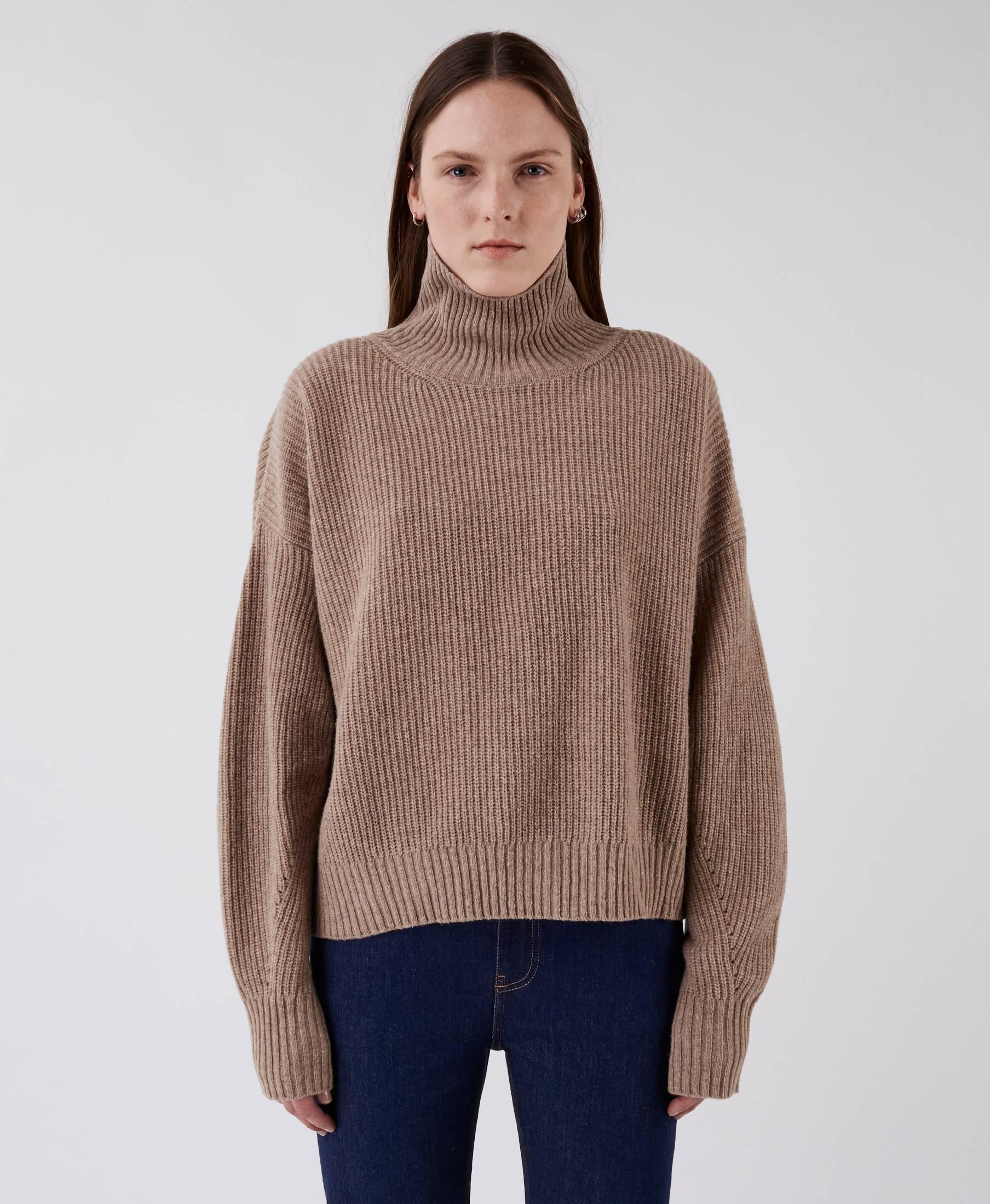 Kara Turtle Sweater Grey Sand