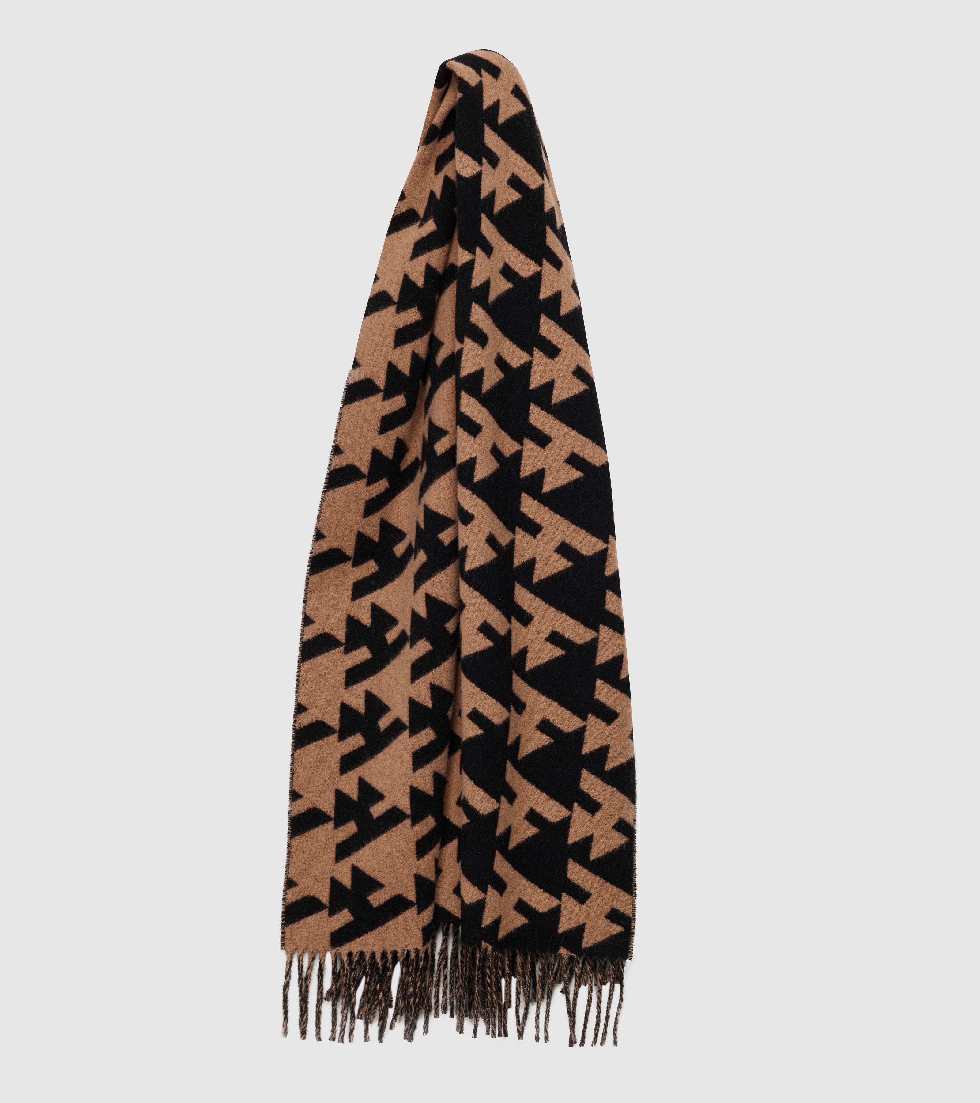 Wood Scarf Small Logo Black