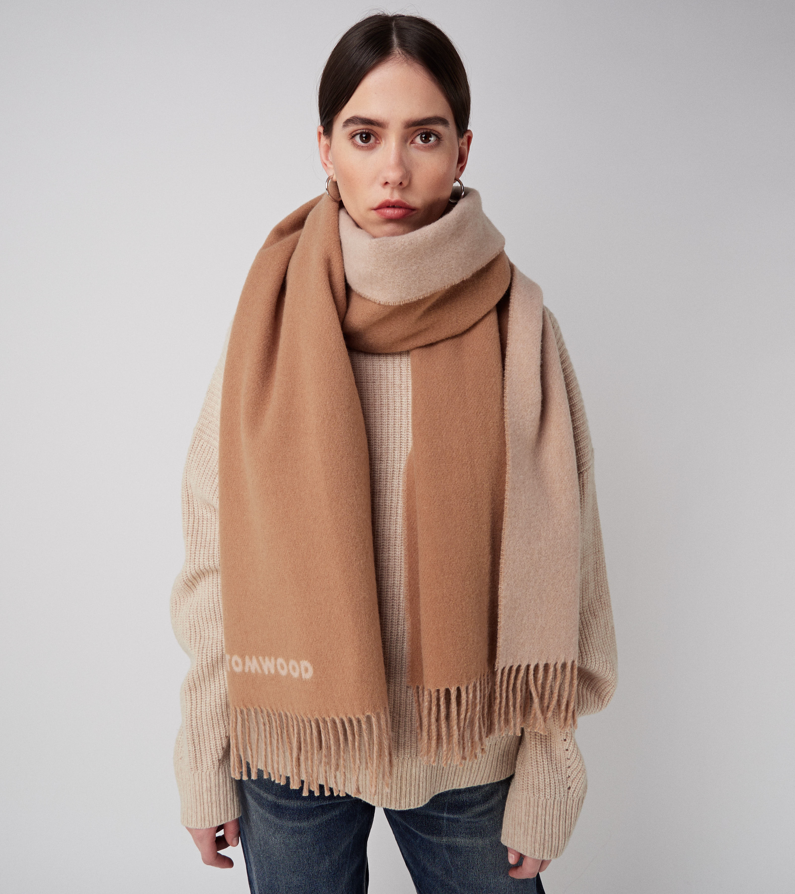 Wood Scarf Sugar Brown