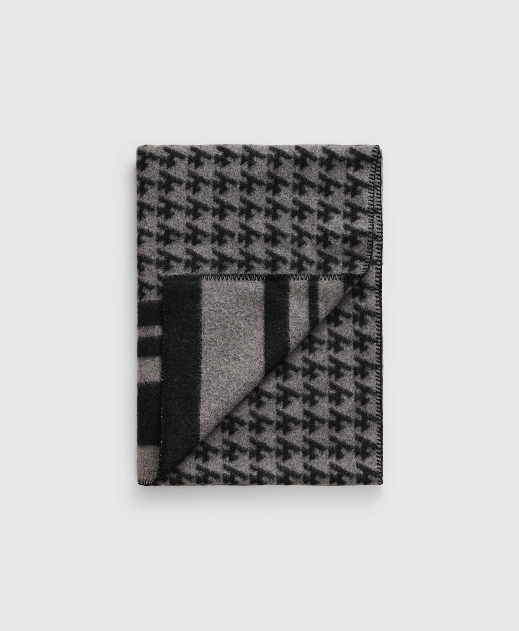 Wood Blanket Logo Grey