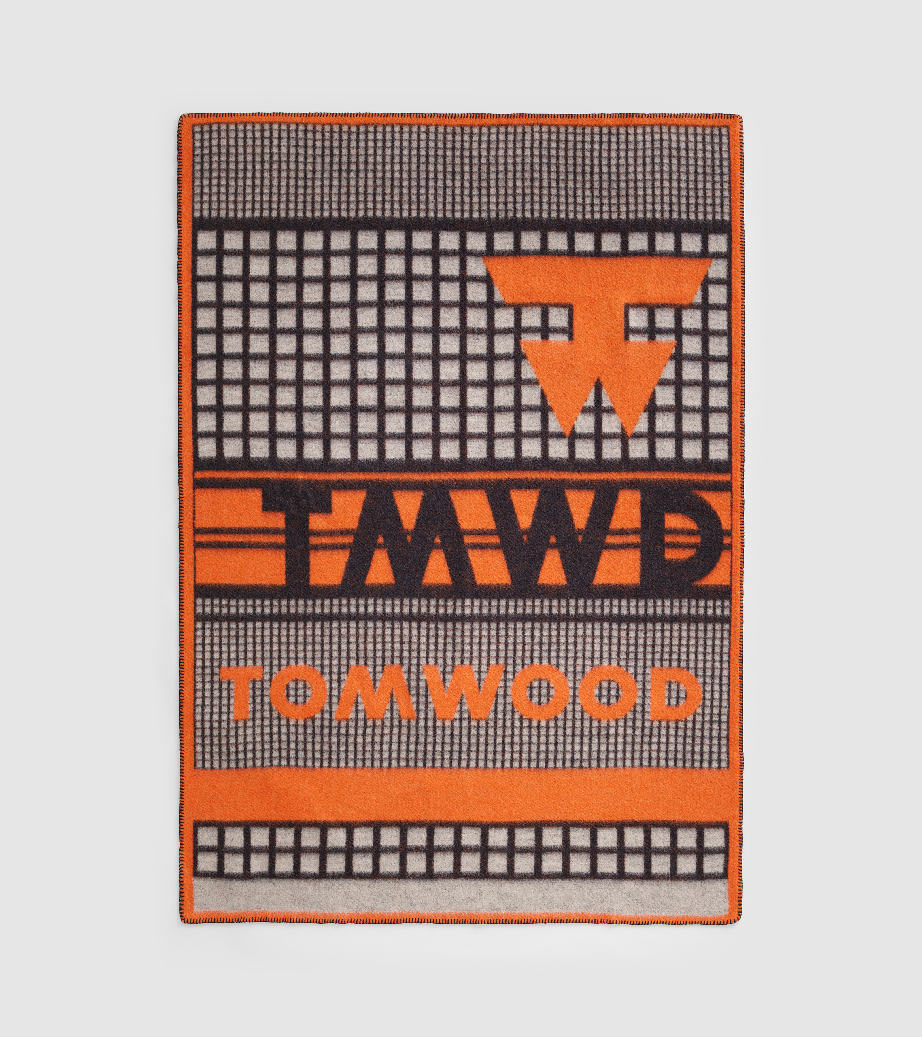 Wood Blanket Logo Print Orange