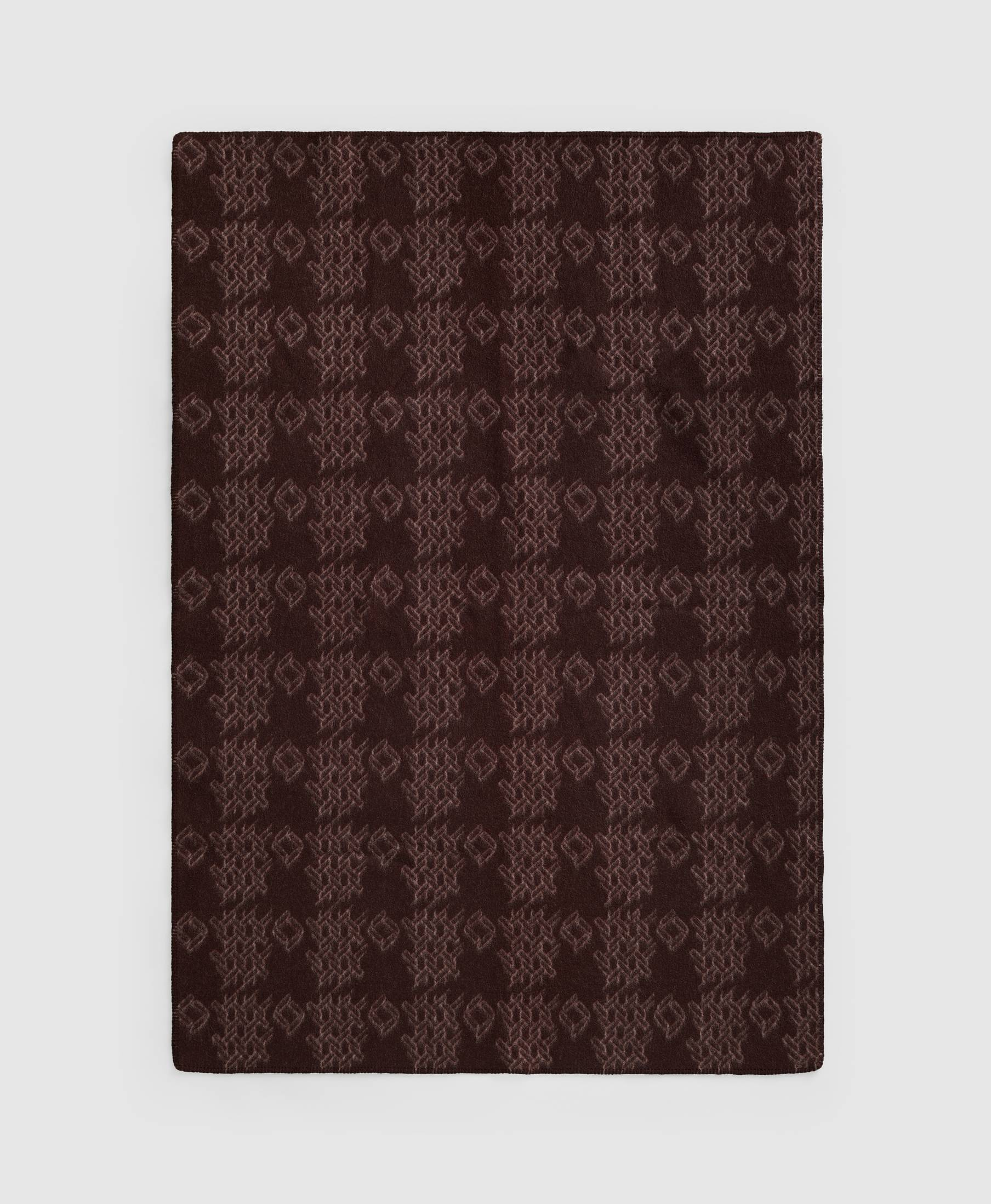 Wood Blanket Print Brown