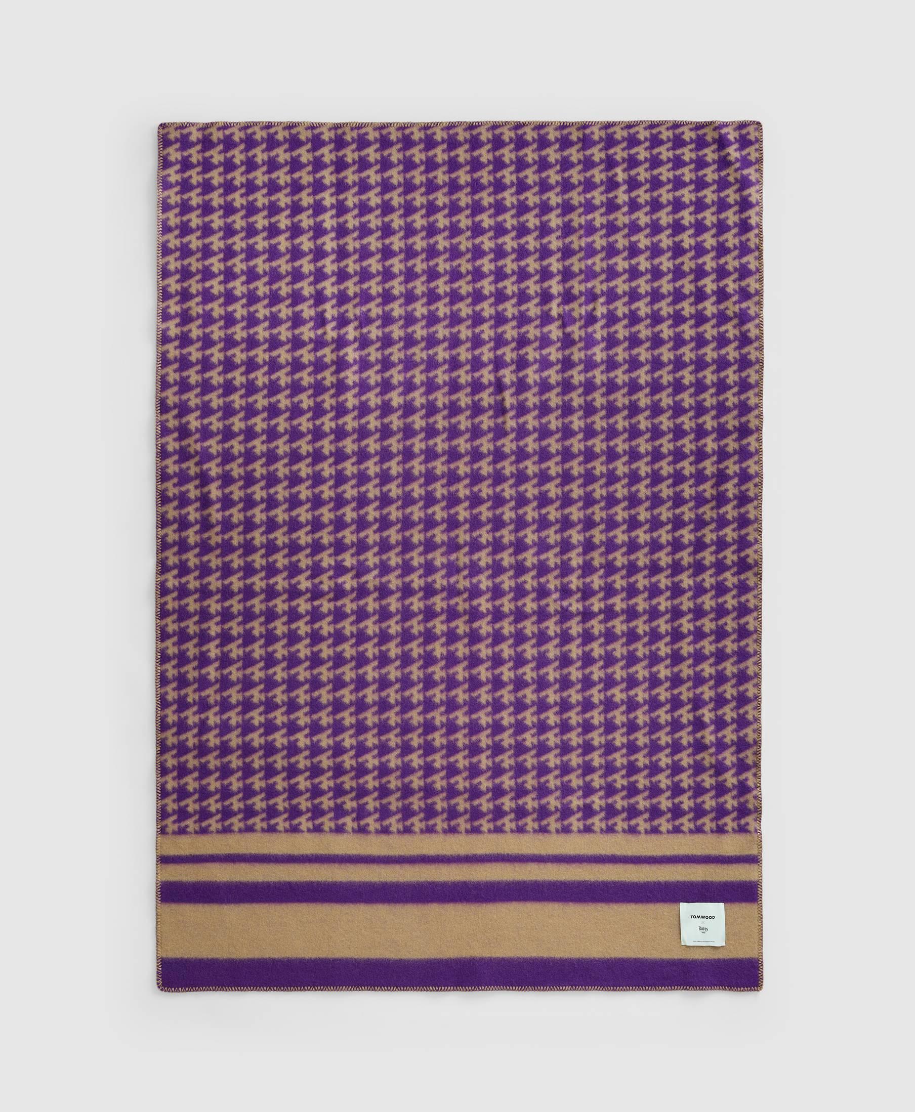 Wood Blanket Logo Purple