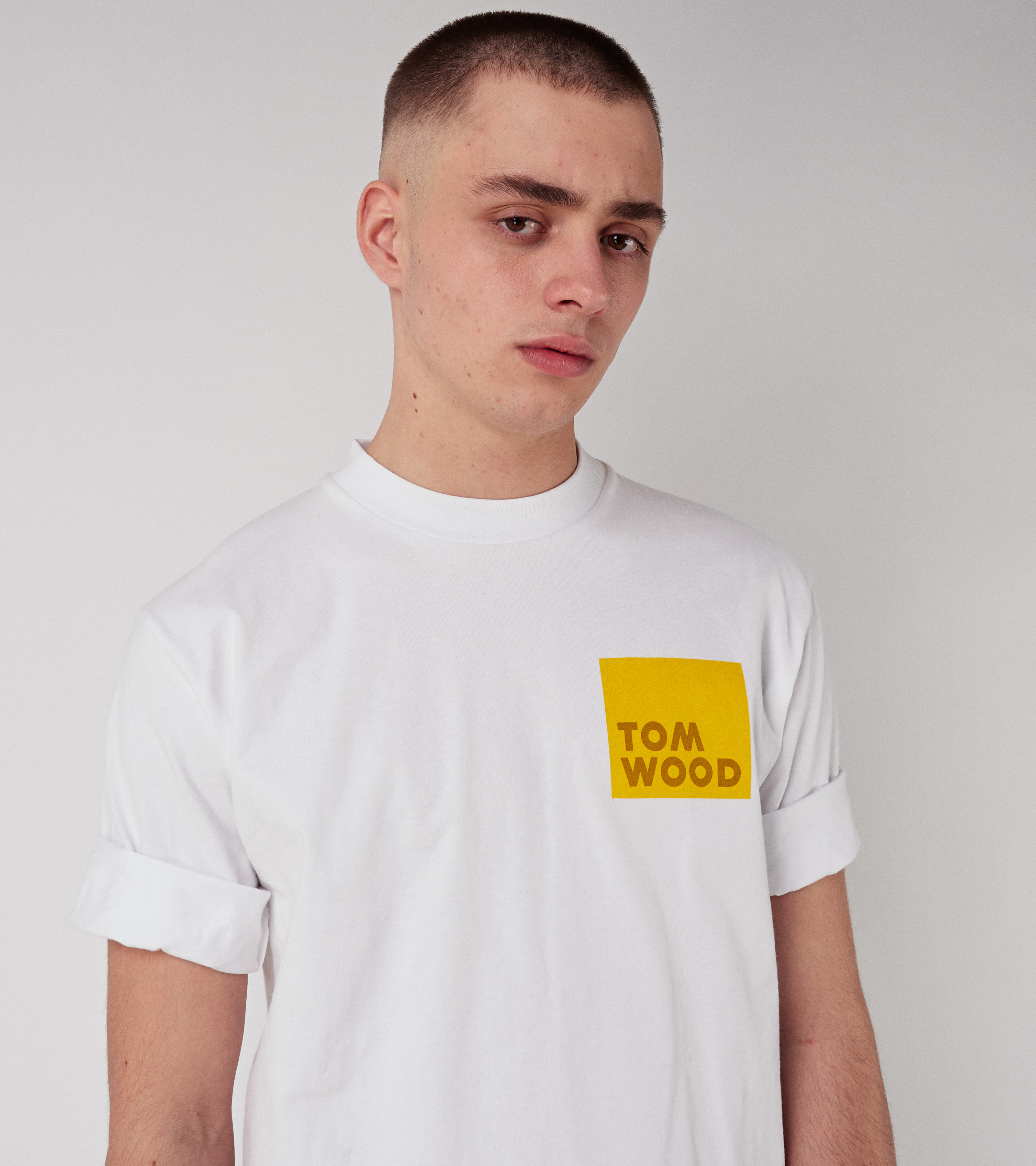 Tom Wood Logo Comfy Tee Virgin White