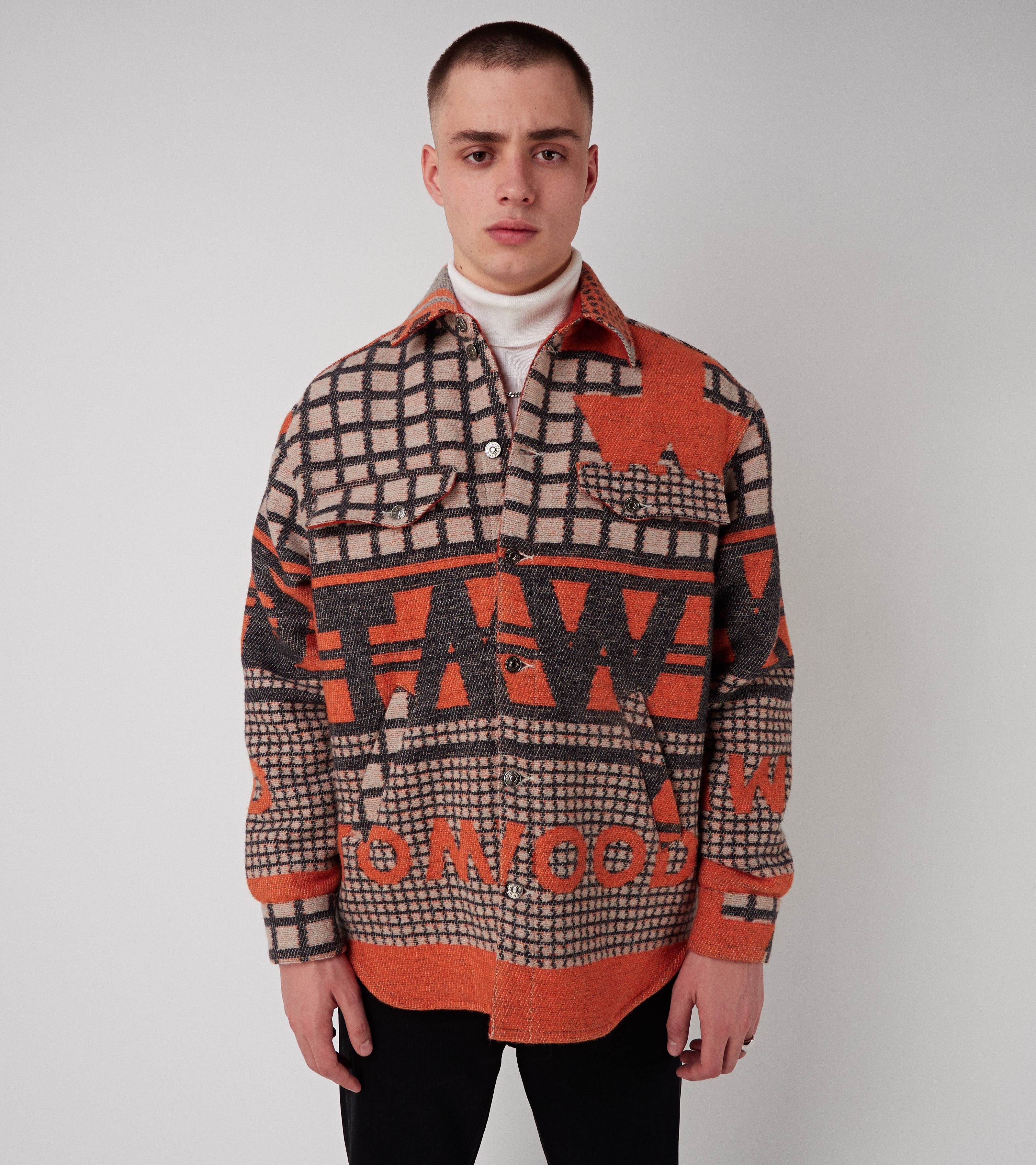 Heritage Shirt Multi Orange M