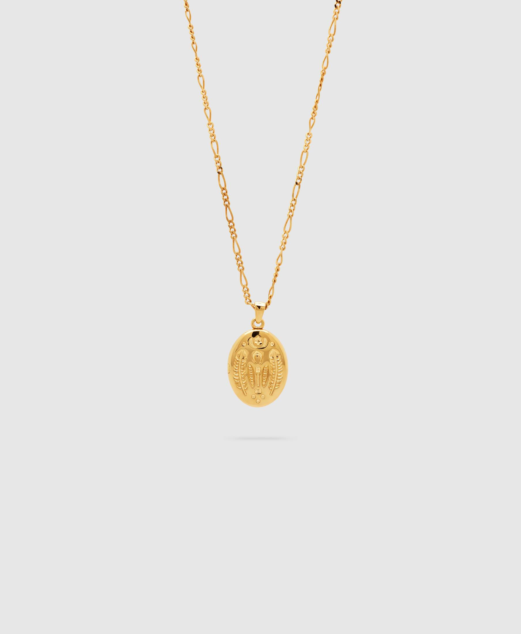 Feather Locket Gold