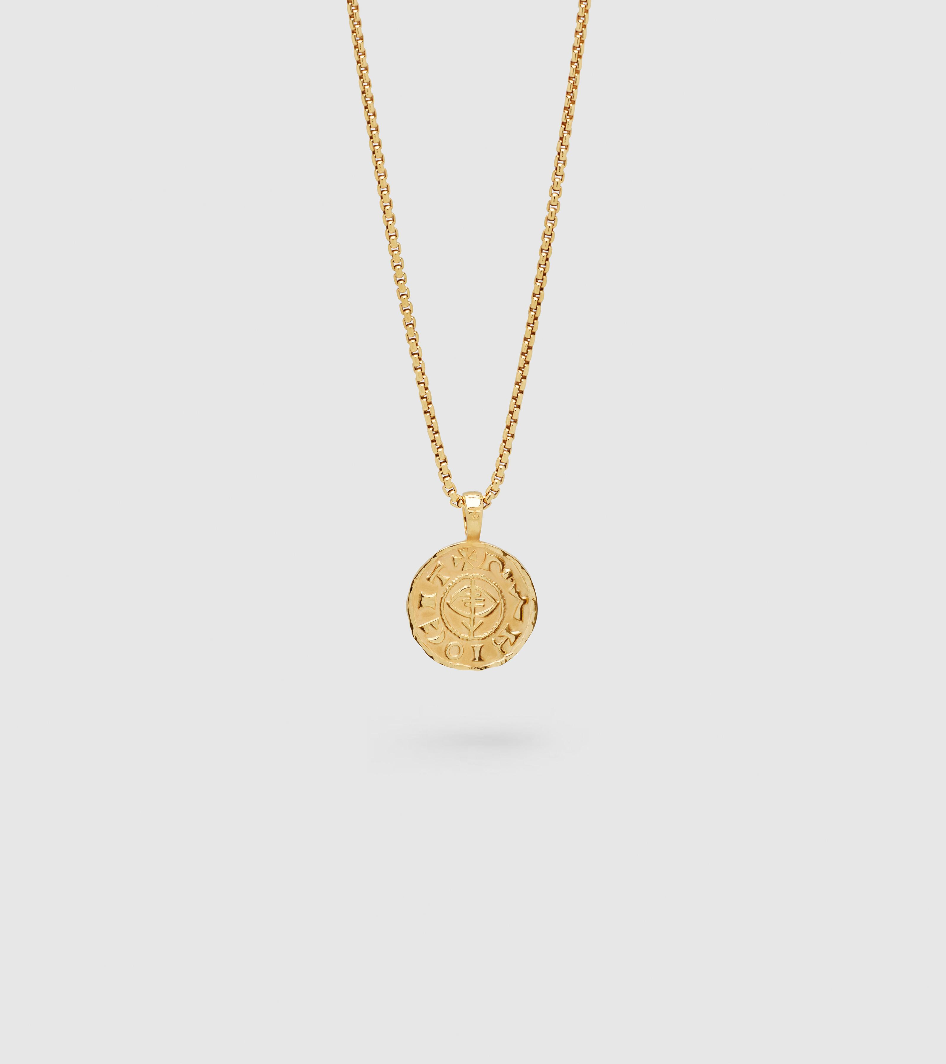 Viking Coin Pendant Gold