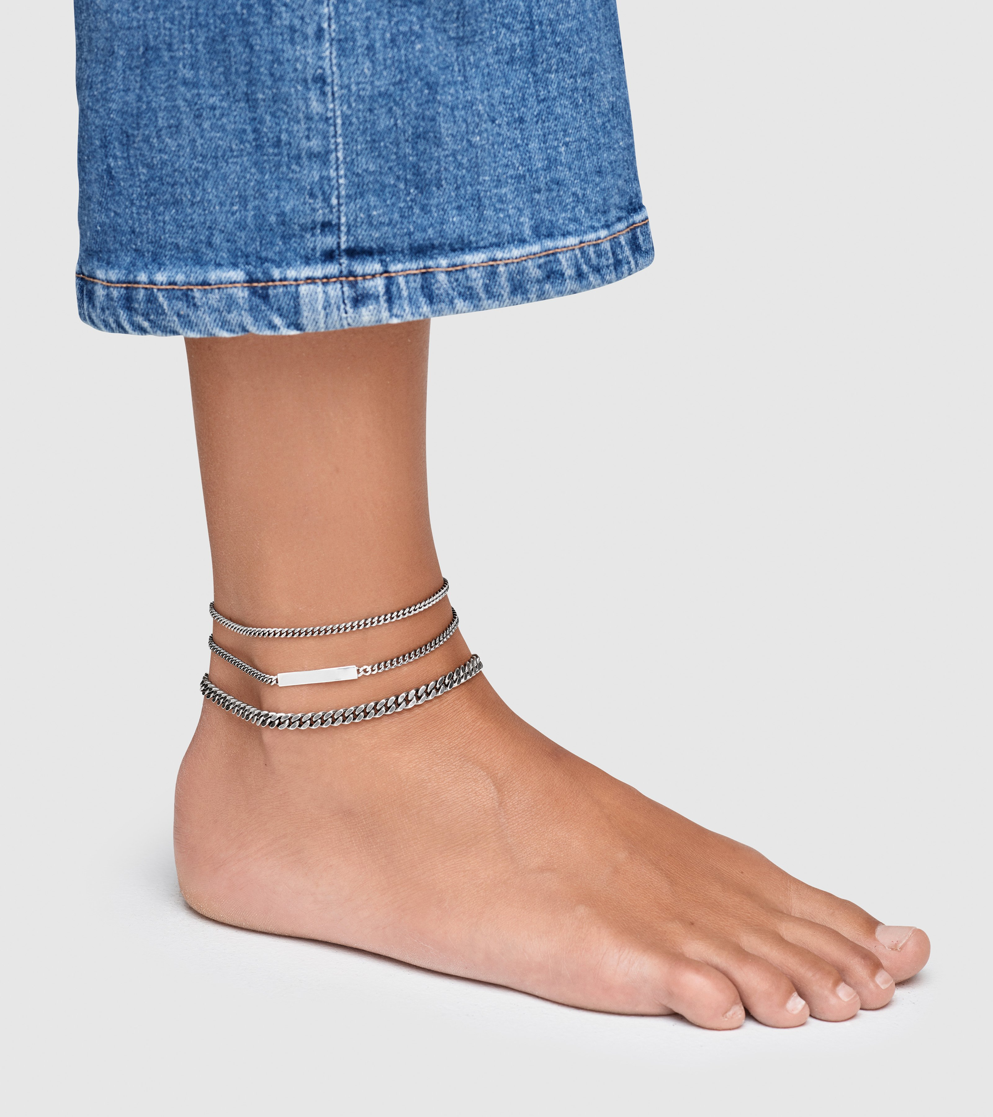 Curb Anklet Thick Gold