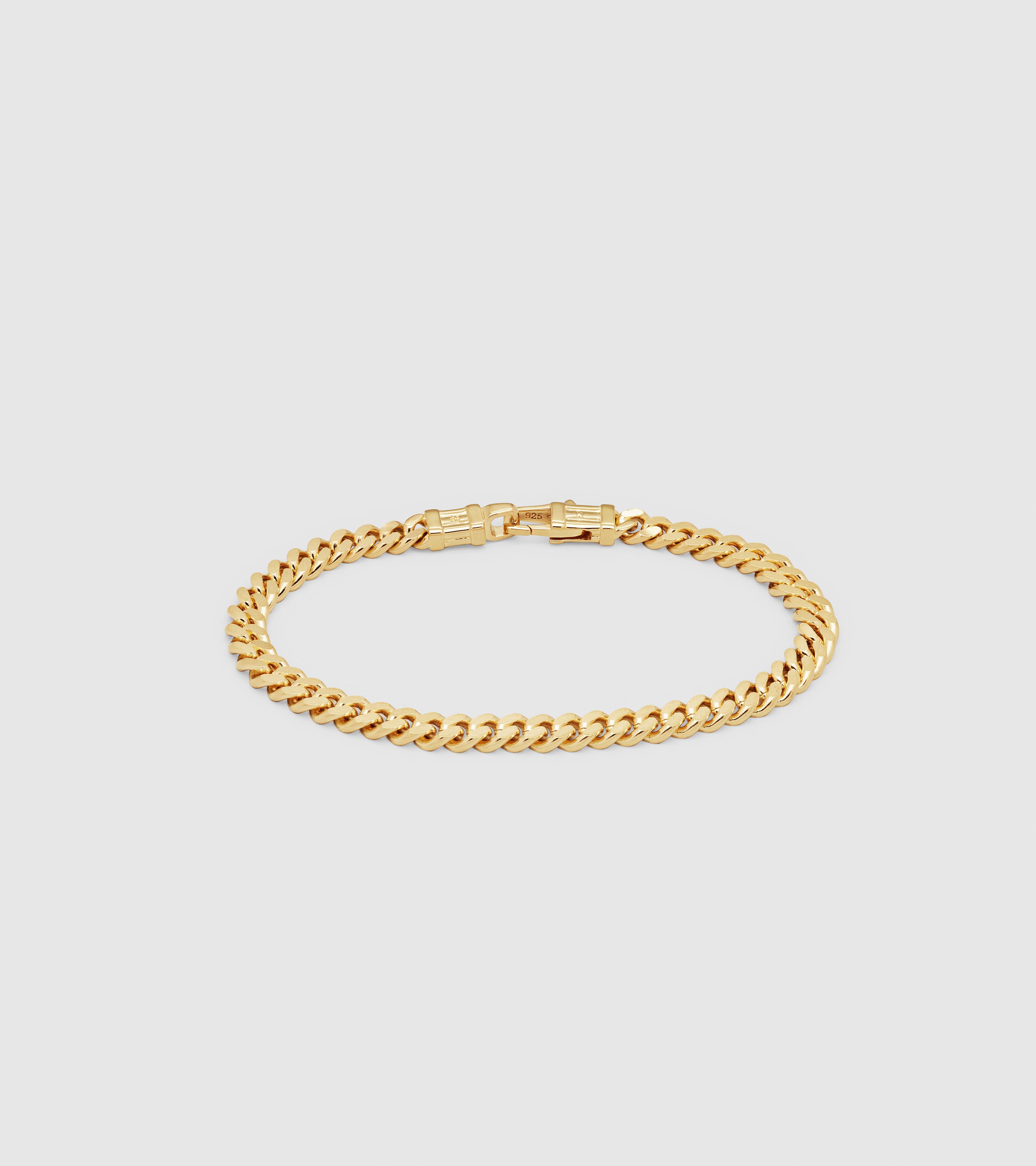 Curb Bracelet L Gold