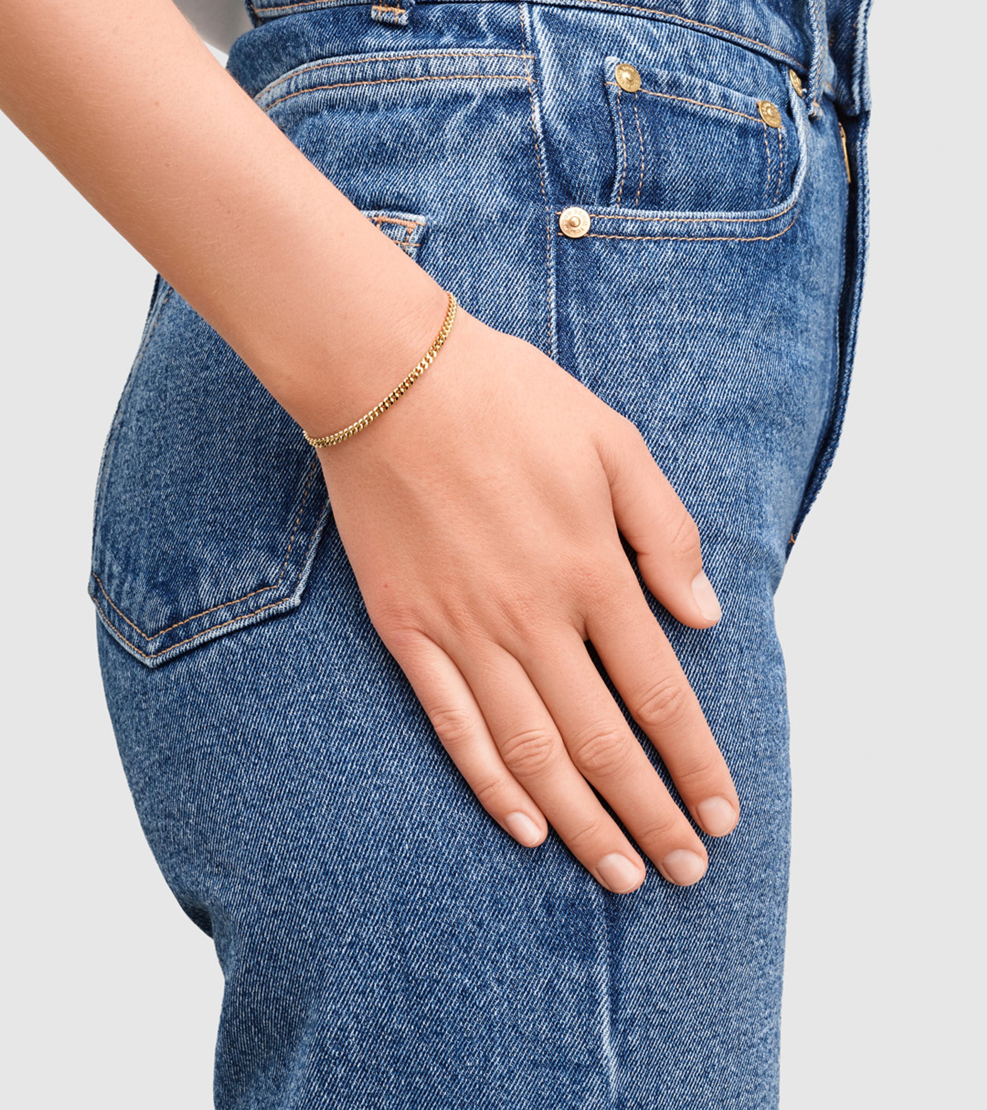 Curb Bracelet M Gold