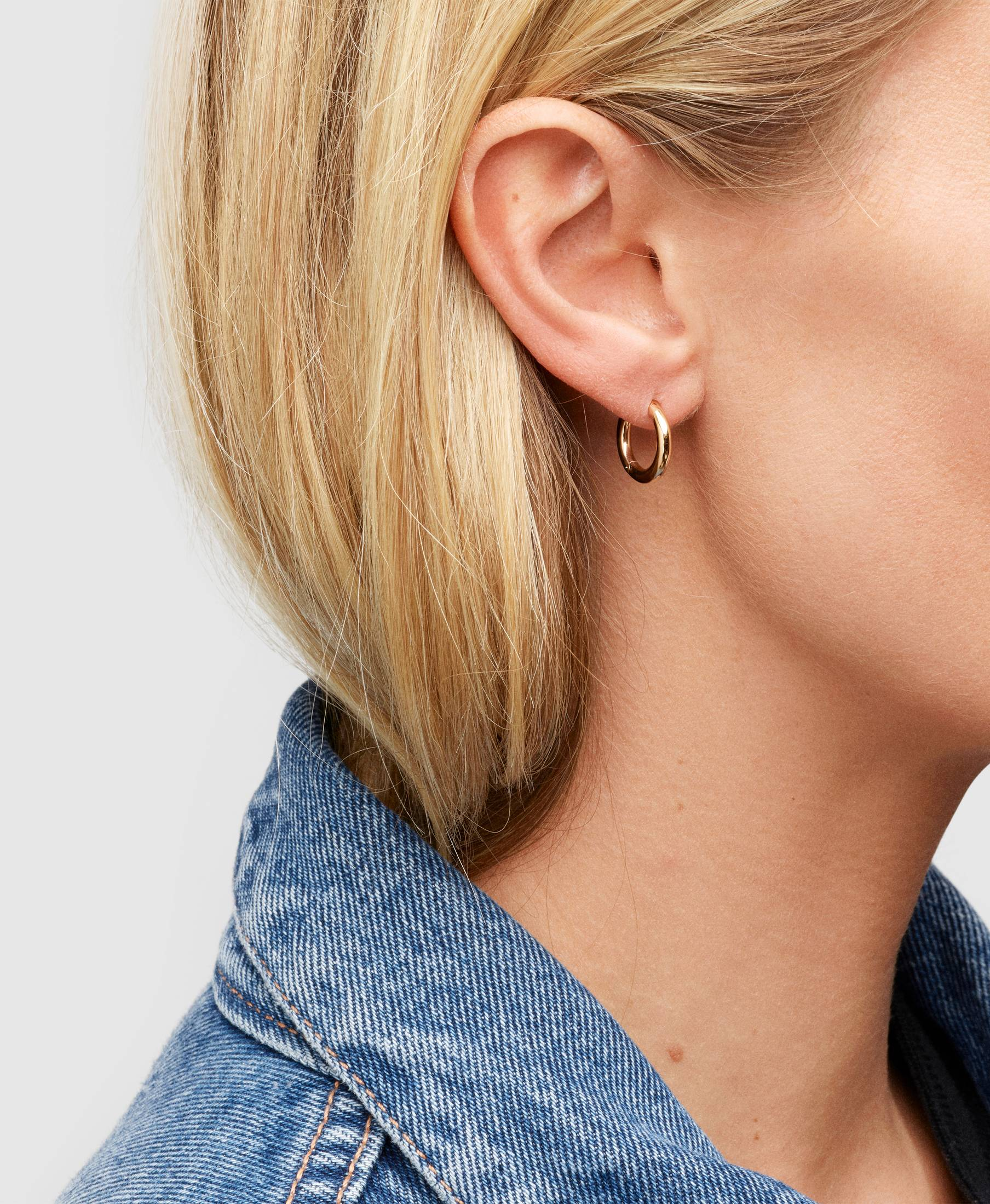 Classic Hoops Small Gold