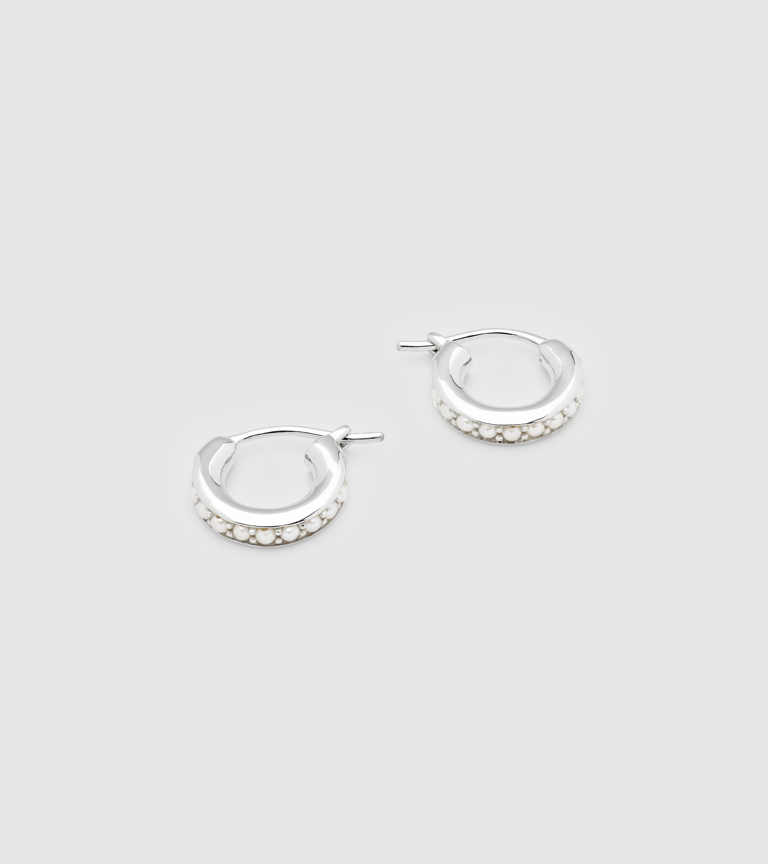 Pearl Hoops Small
