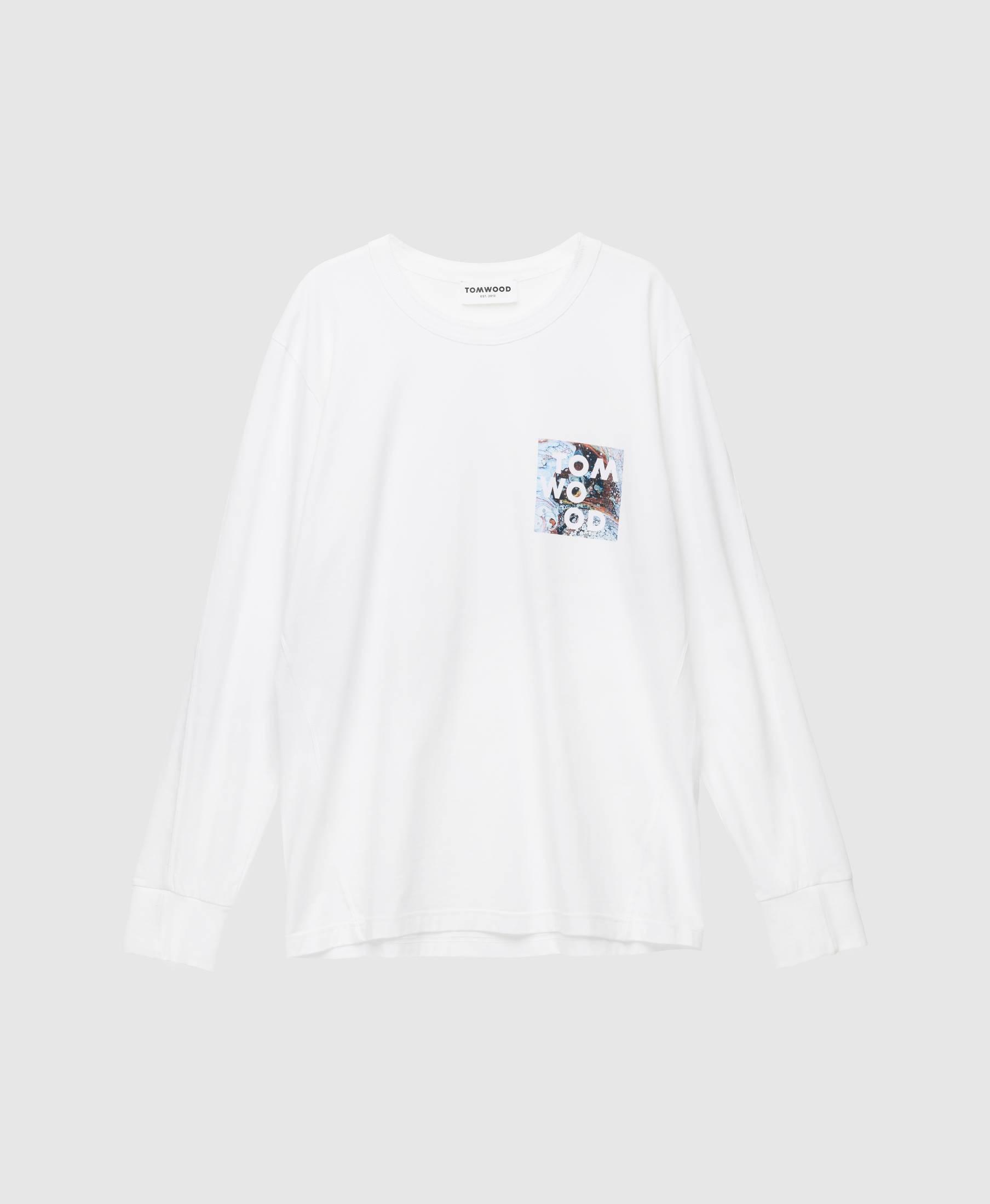 Dan Long Sleeve Logo Virgin White