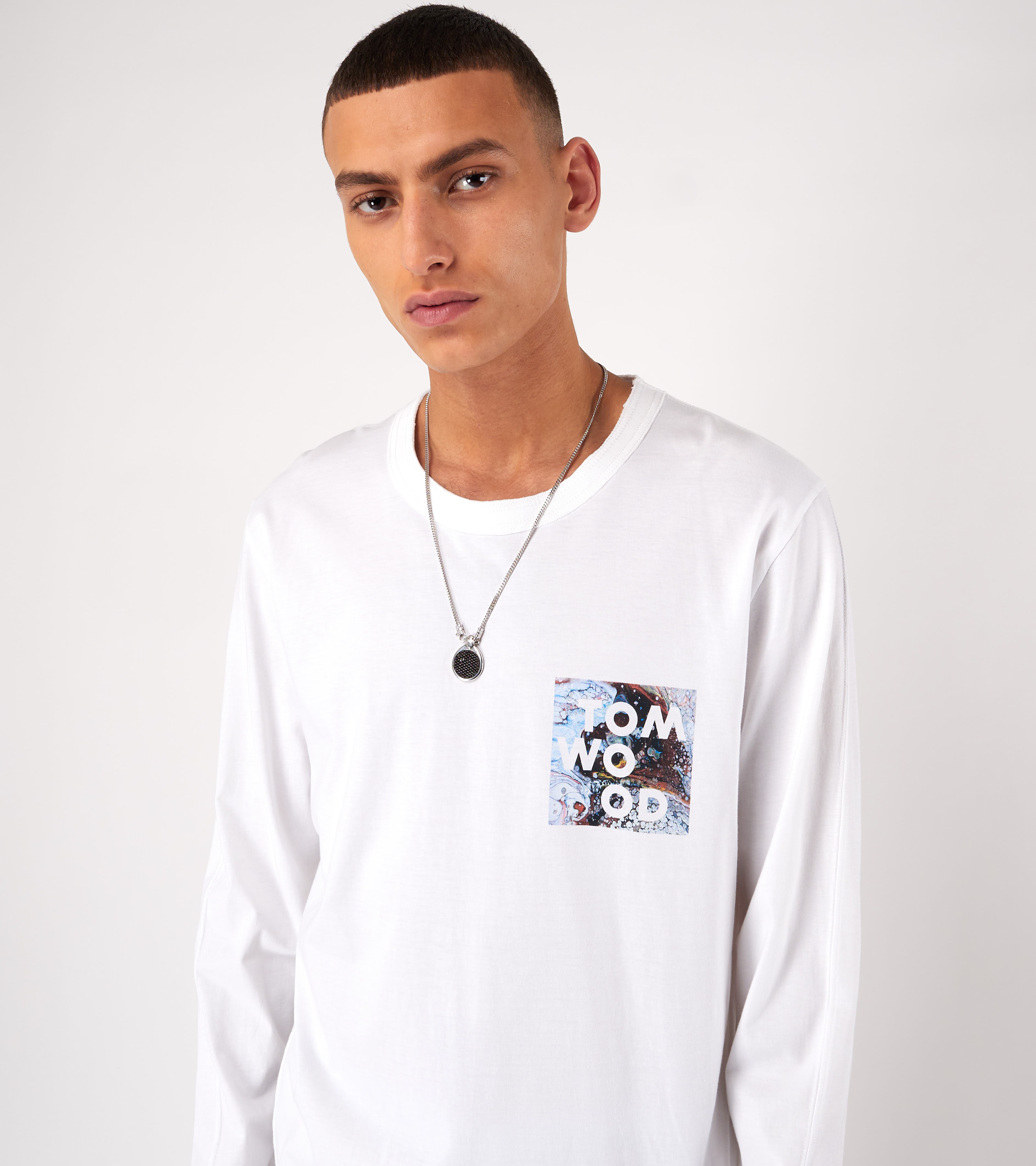 Dan Long Sleeve Logo Virgin White