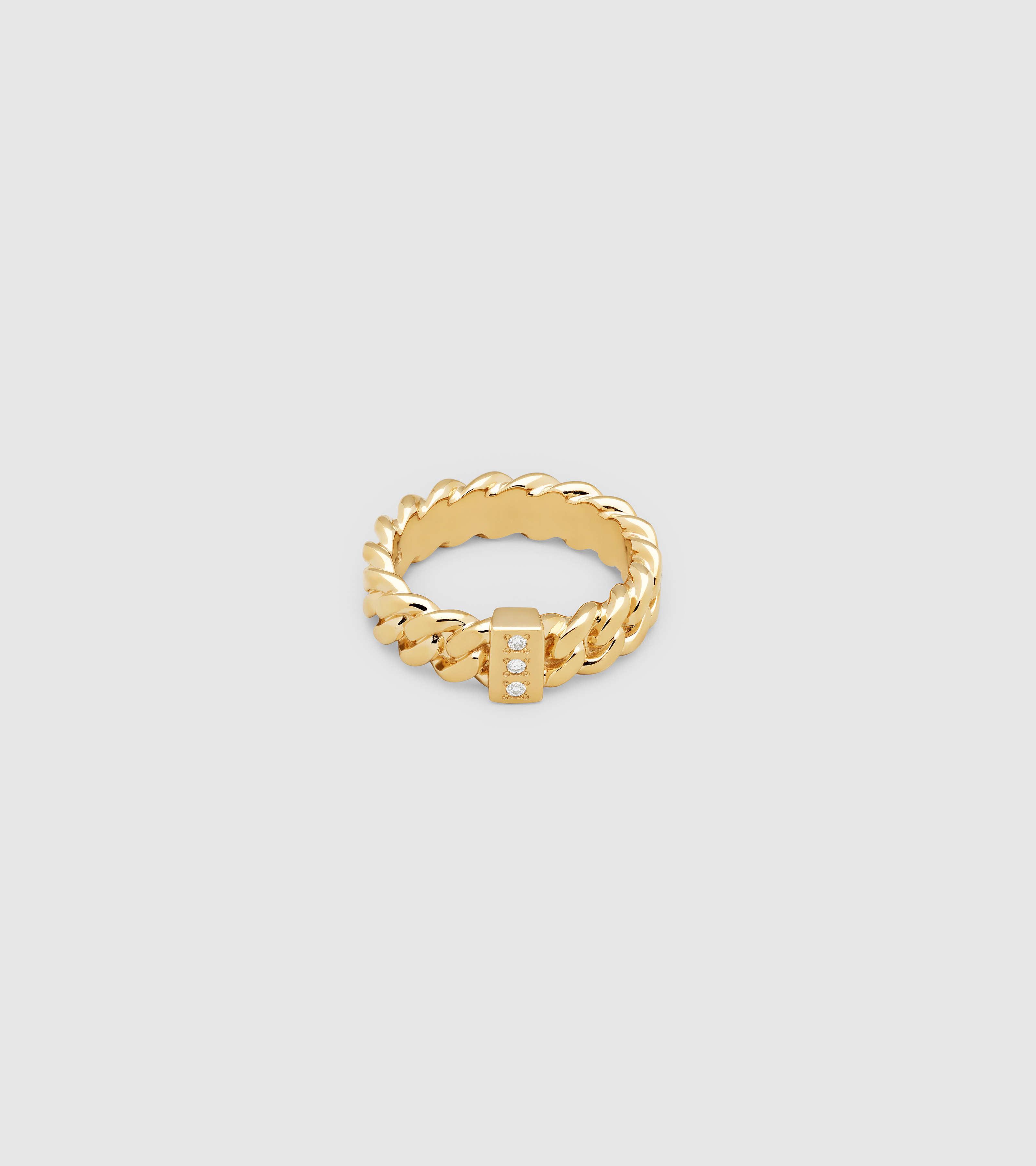 Chain Ring Slim Diamond