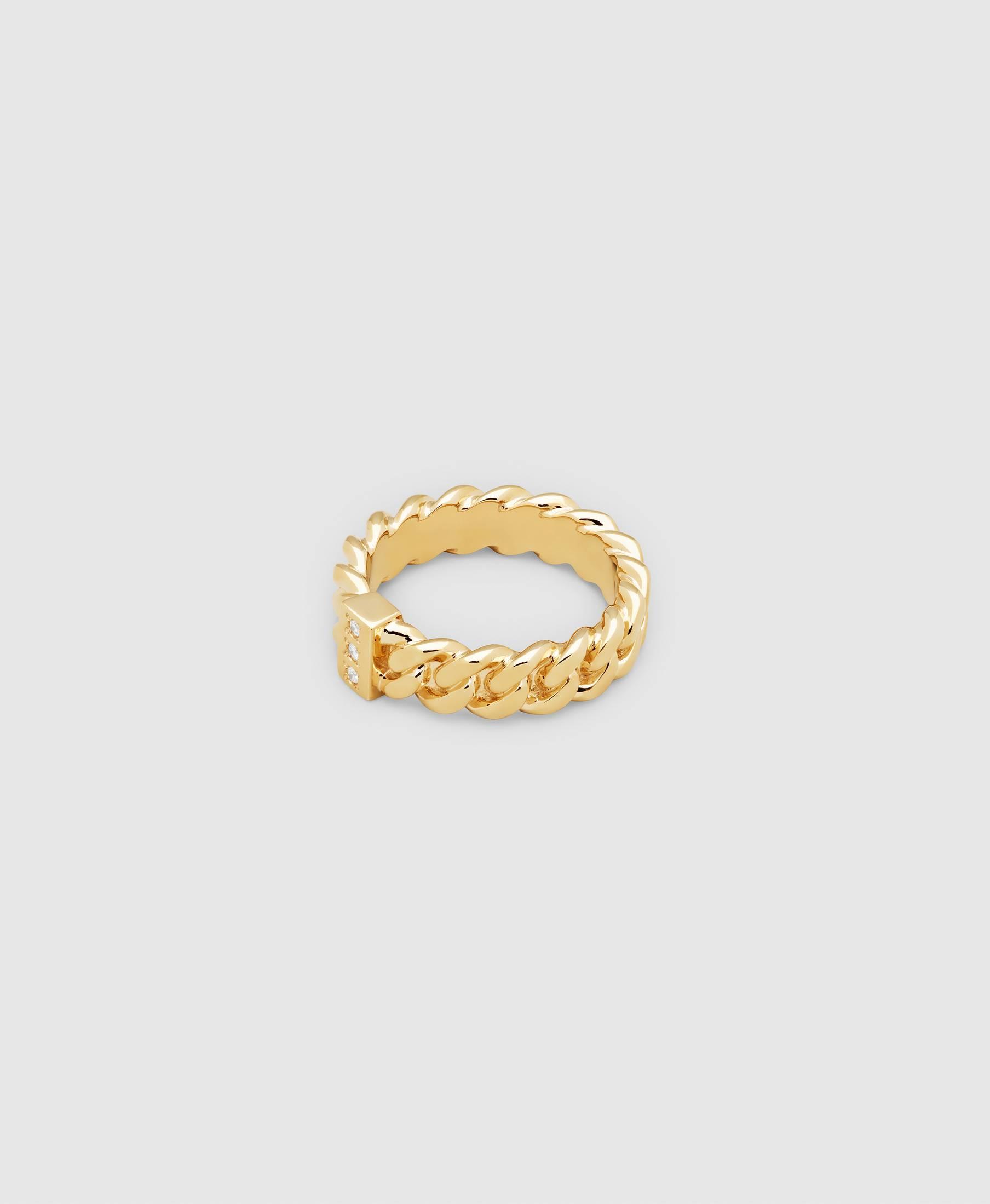 Chain Ring Slim Diamond